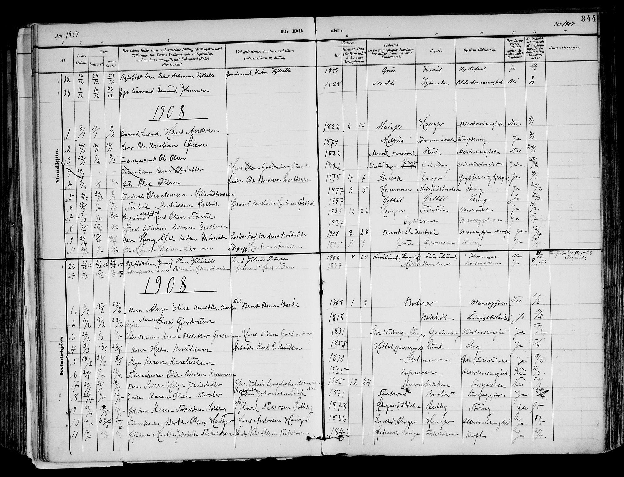 SAH, Brandval prestekontor, H/Ha/Haa/L0003: Ministerialbok nr. 3, 1894-1909, s. 344