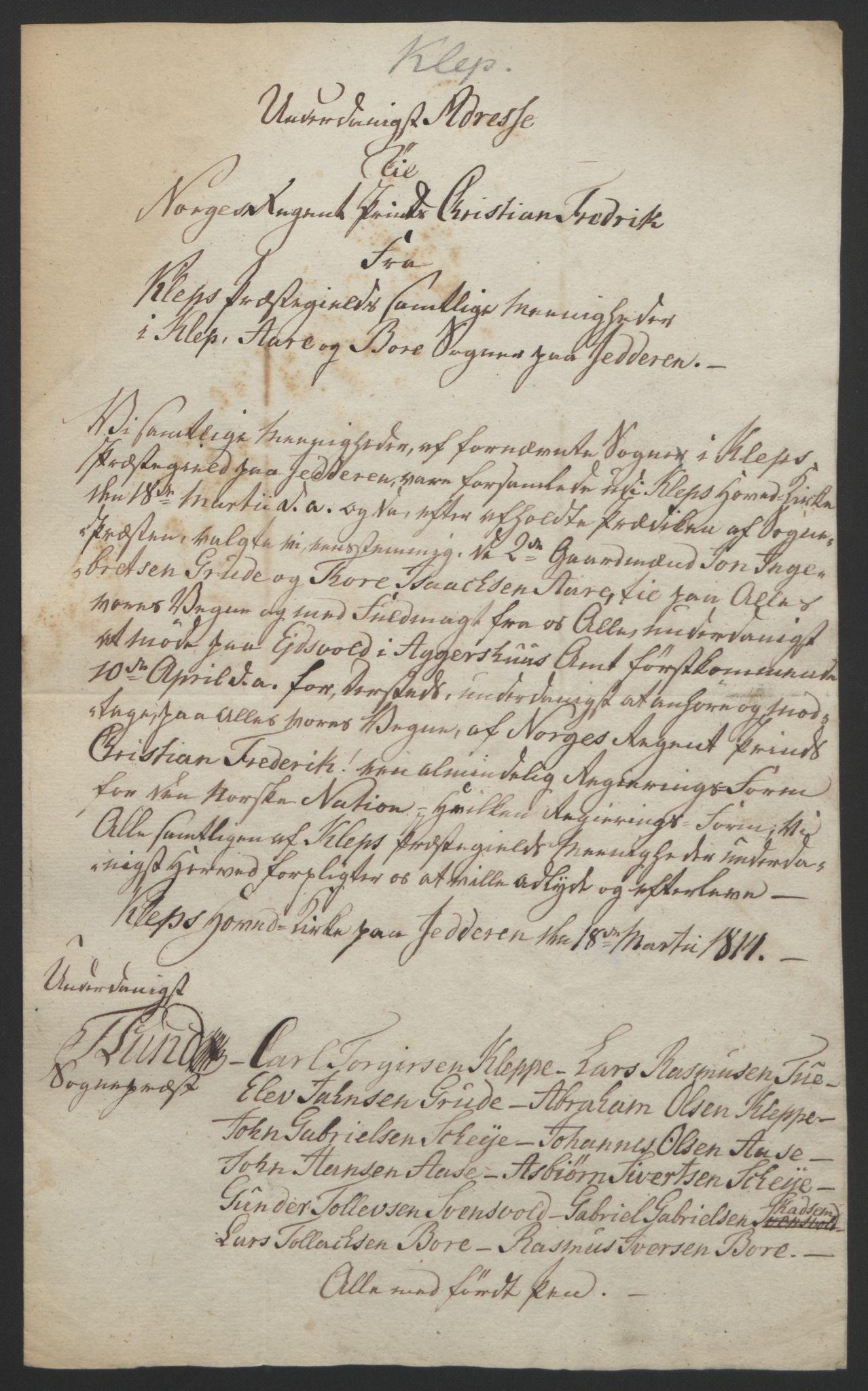 RA, Statsrådssekretariatet, D/Db/L0008: Fullmakter for Eidsvollsrepresentantene i 1814. , 1814, s. 233