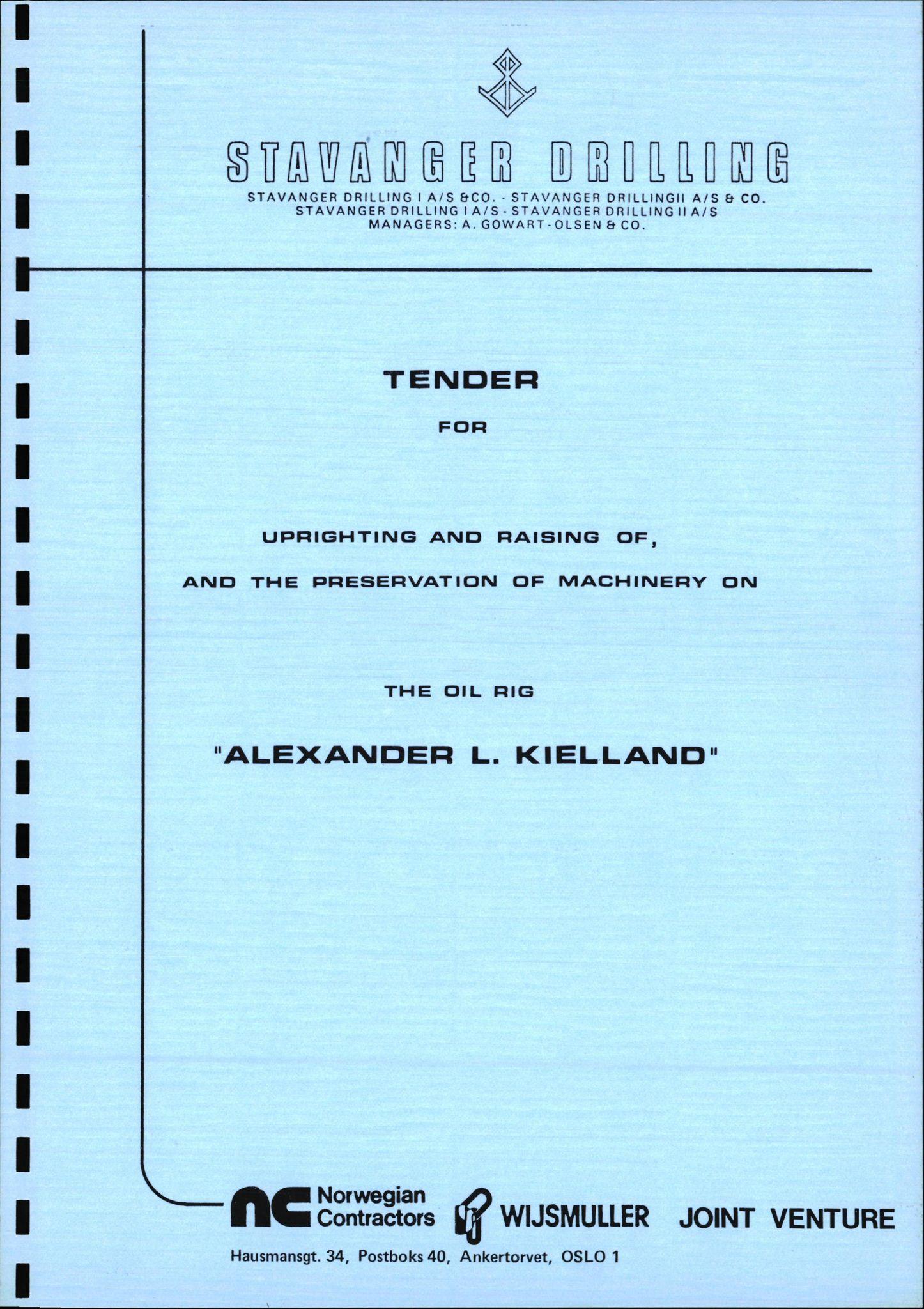 SAST, Pa 1503 - Stavanger Drilling AS, E/Eb/Eba/L0016: Snuforsøk, 1980-1983