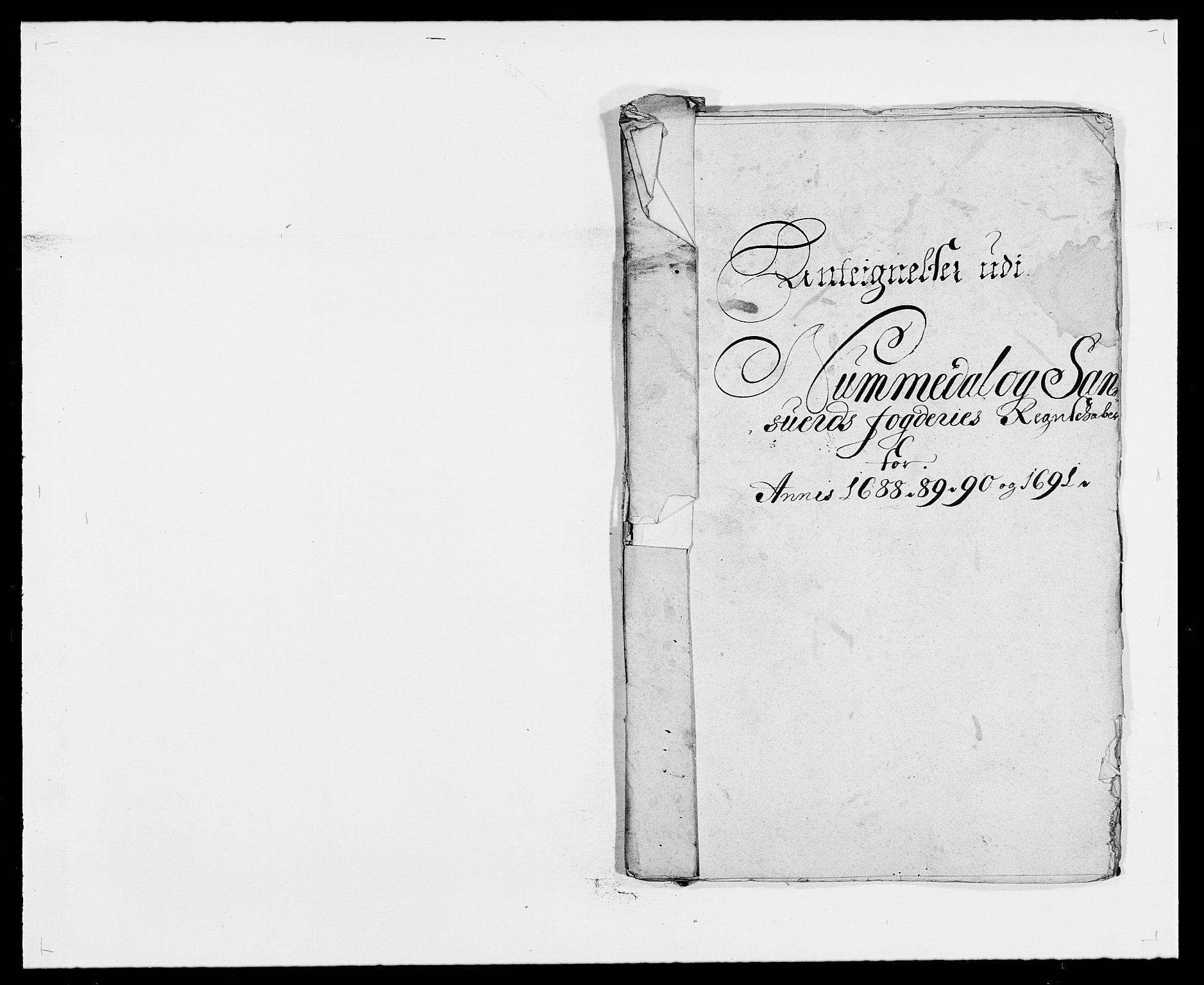RA, Rentekammeret inntil 1814, Reviderte regnskaper, Fogderegnskap, R24/L1574: Fogderegnskap Numedal og Sandsvær, 1688-1691, s. 159