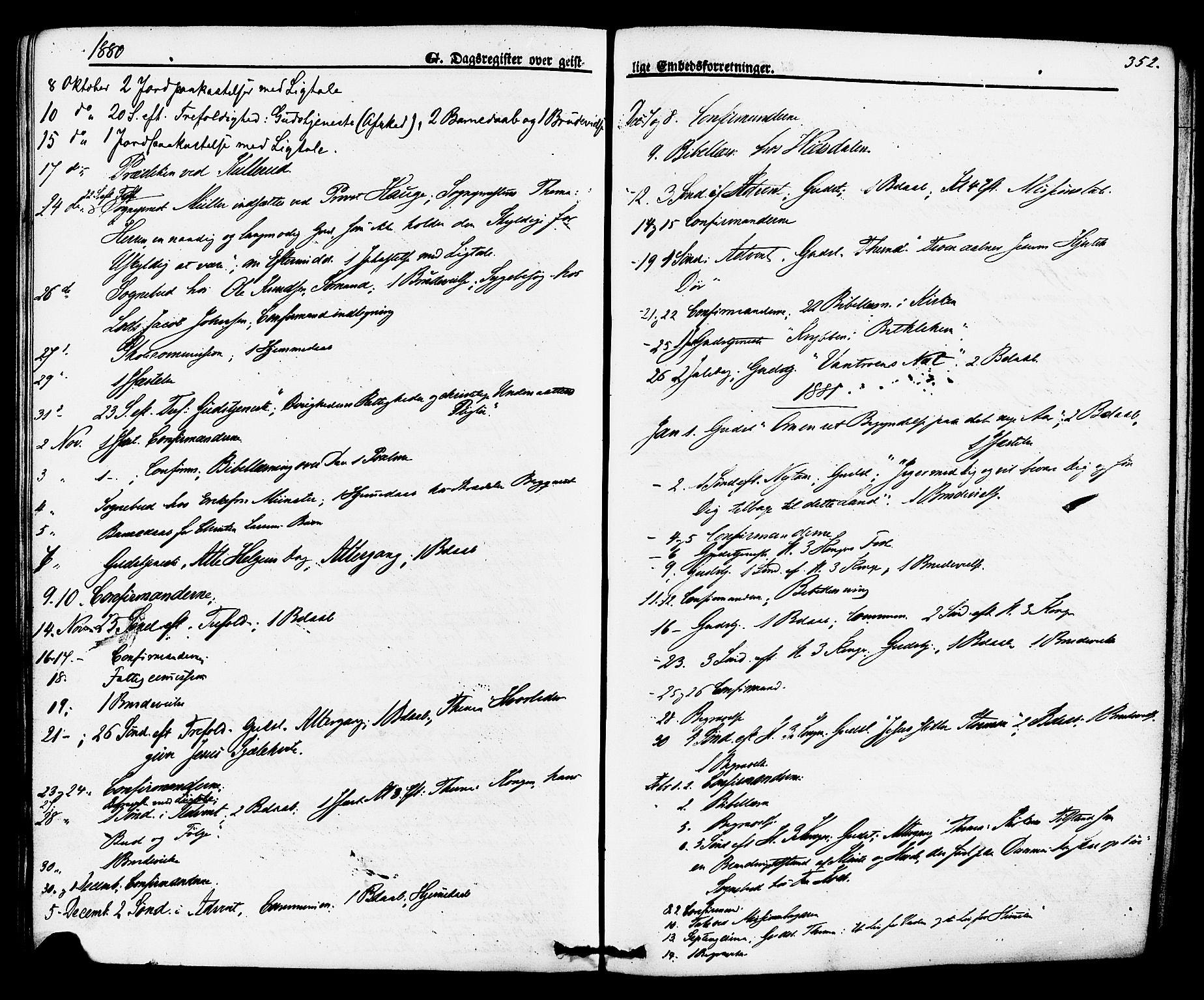 SAKO, Brevik kirkebøker, F/Fa/L0006: Ministerialbok nr. 6, 1866-1881, s. 352