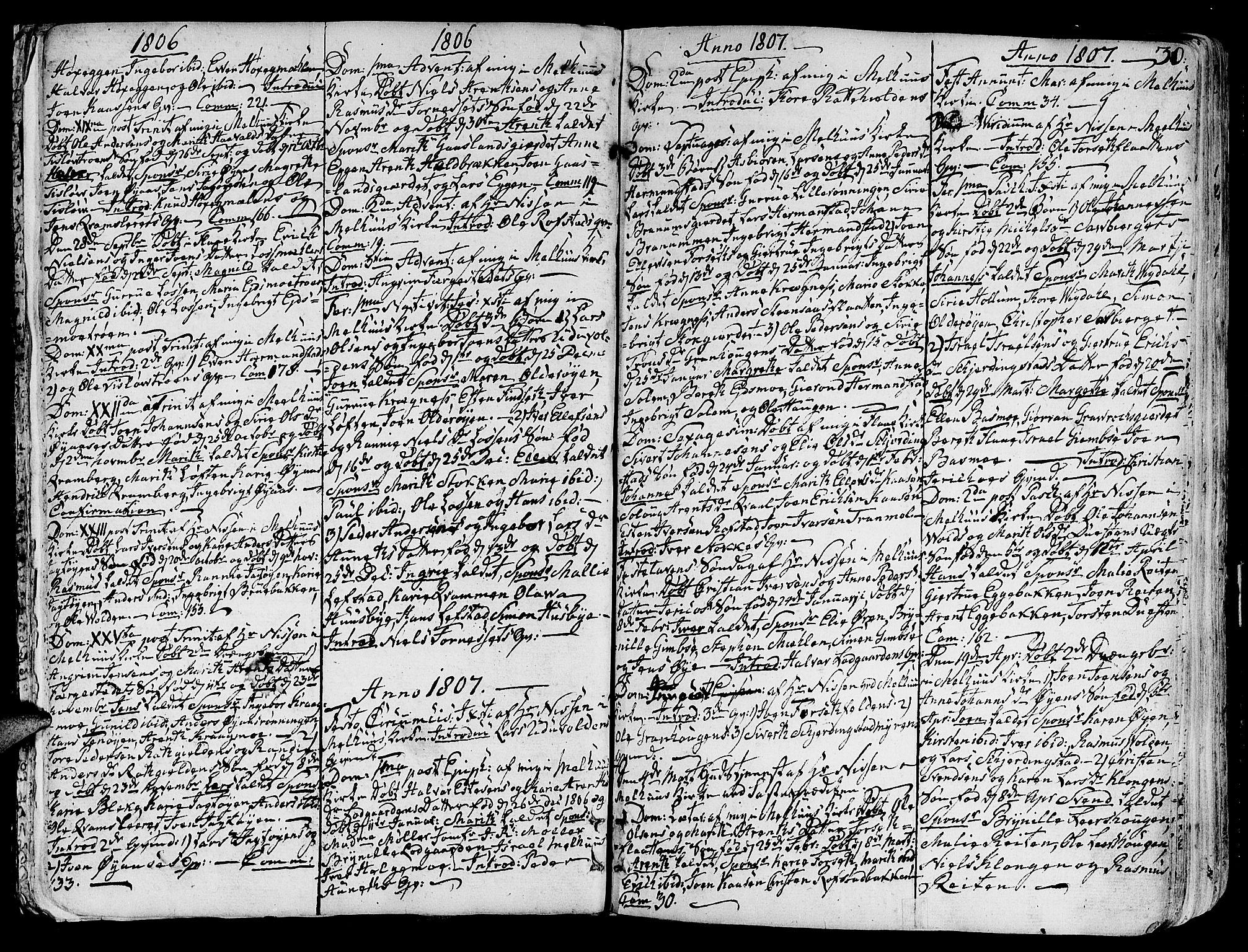 SAT, Ministerialprotokoller, klokkerbøker og fødselsregistre - Sør-Trøndelag, 691/L1061: Ministerialbok nr. 691A02 /1, 1768-1815, s. 30