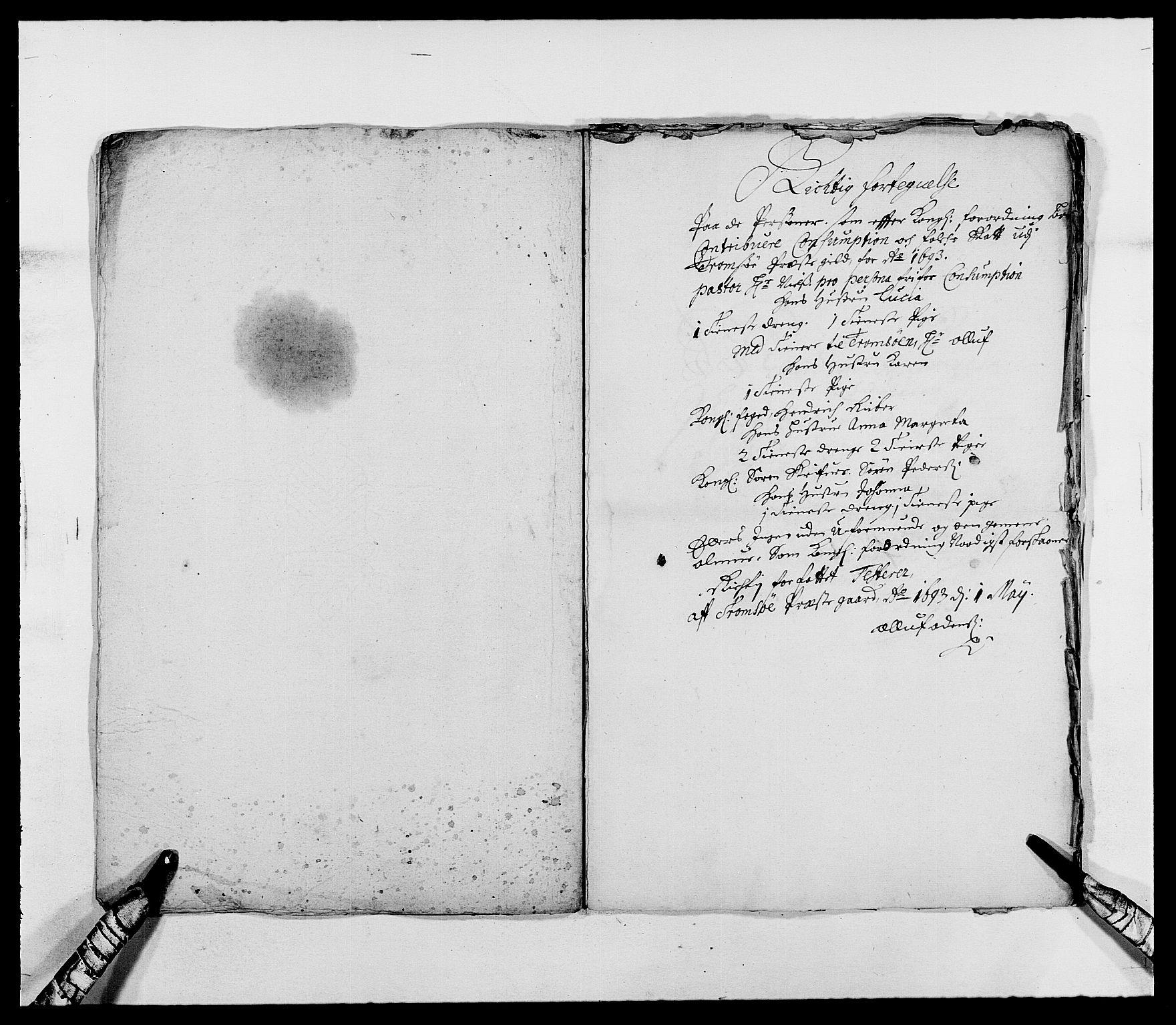 RA, Rentekammeret inntil 1814, Reviderte regnskaper, Fogderegnskap, R68/L4751: Fogderegnskap Senja og Troms, 1690-1693, s. 321