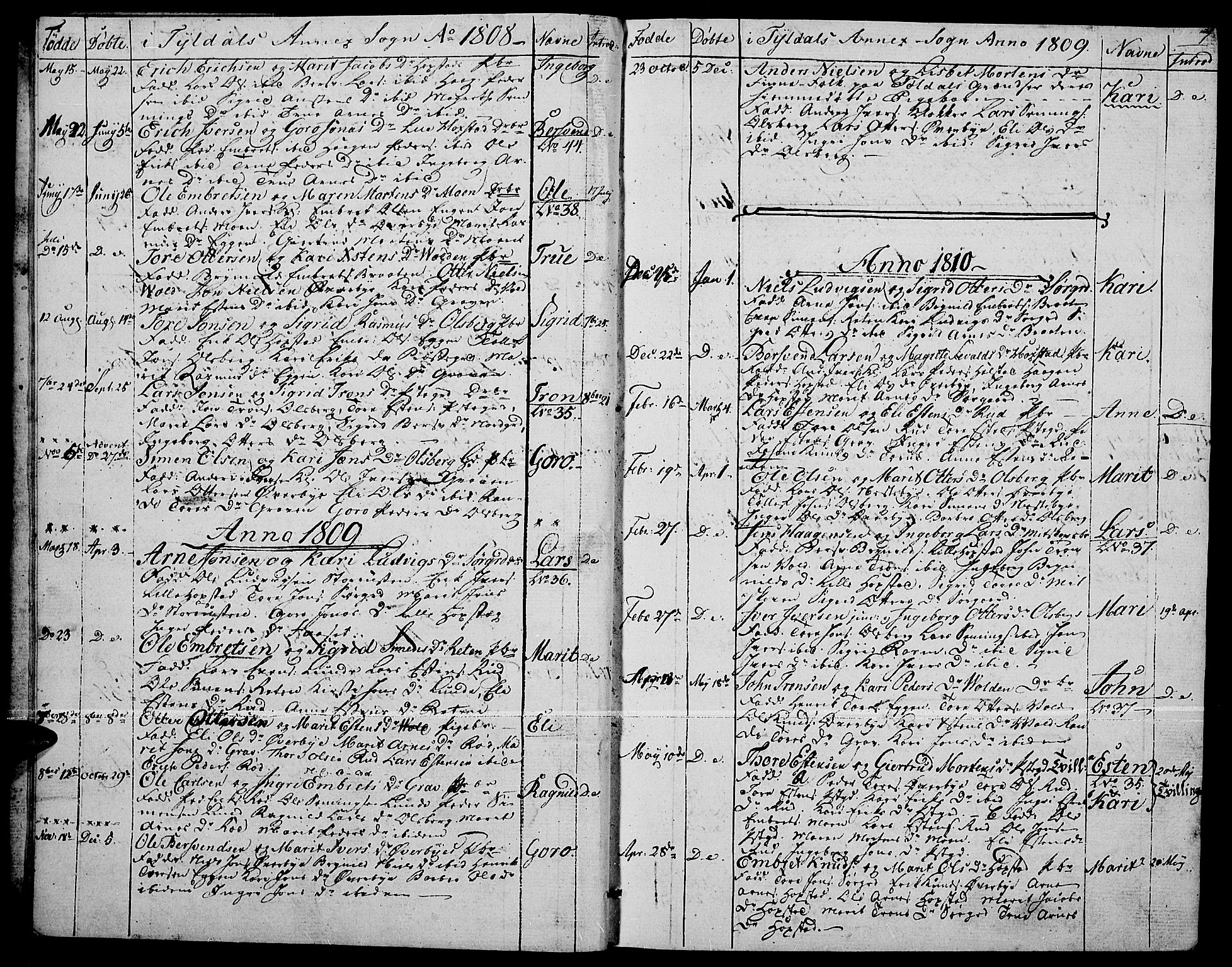 SAH, Tynset prestekontor, Ministerialbok nr. 17, 1801-1814, s. 7