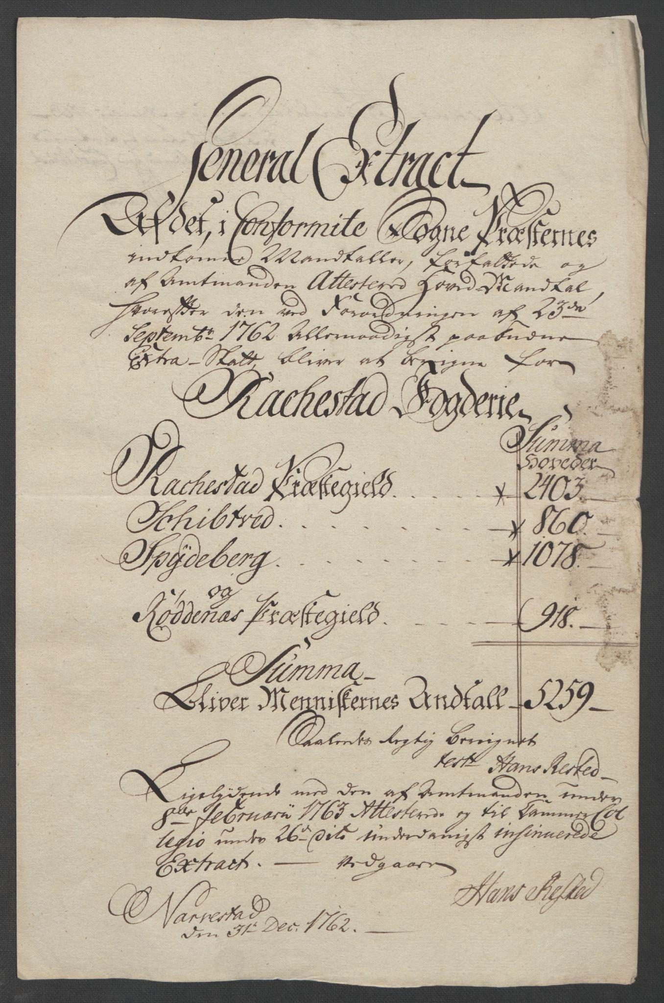 RA, Rentekammeret inntil 1814, Reviderte regnskaper, Fogderegnskap, R07/L0413: Ekstraskatten Rakkestad, Heggen og Frøland, 1762-1772, s. 19