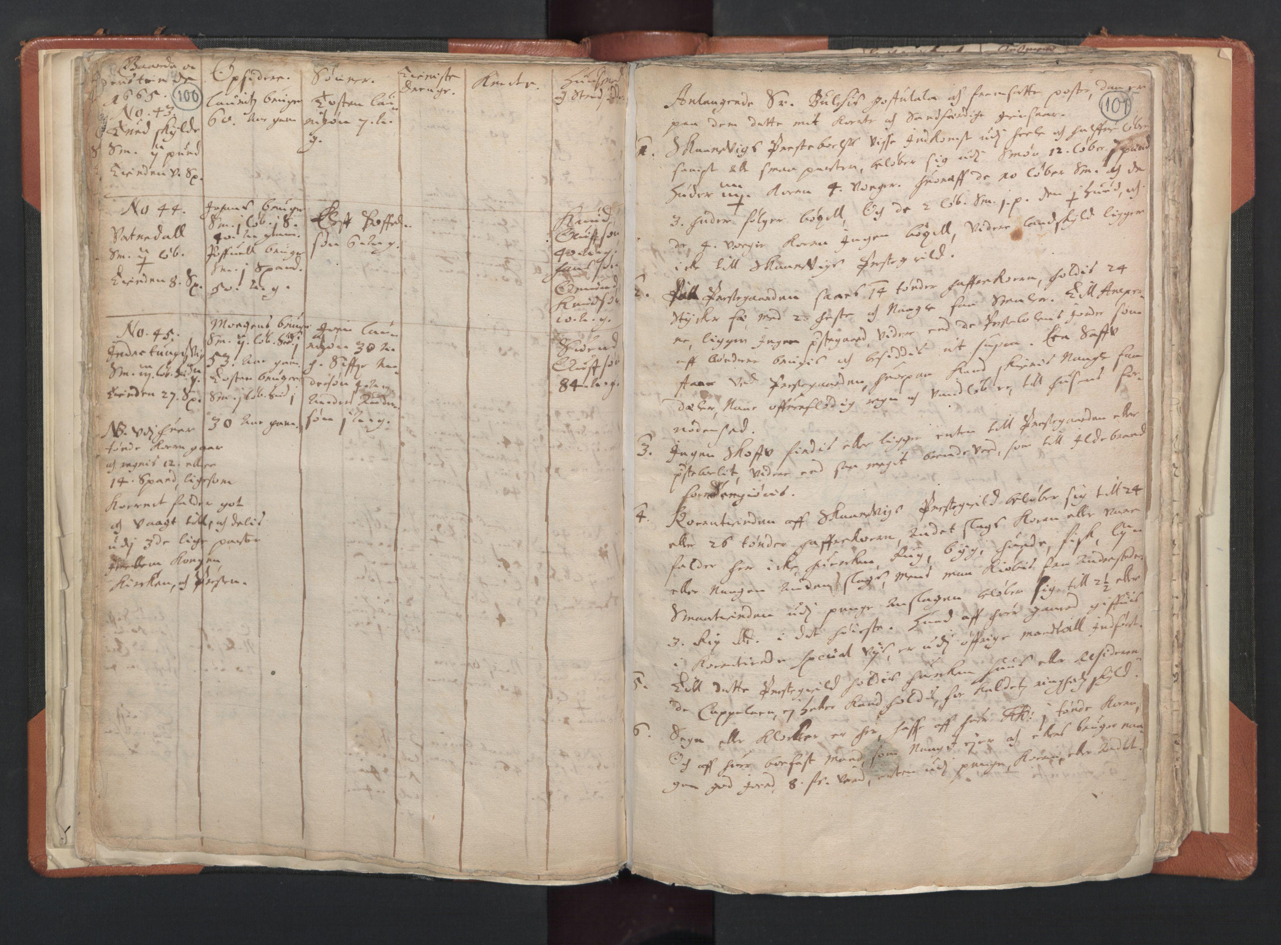 RA, Sogneprestenes manntall 1664-1666, nr. 20: Sunnhordland prosti, 1664-1666, s. 100-101