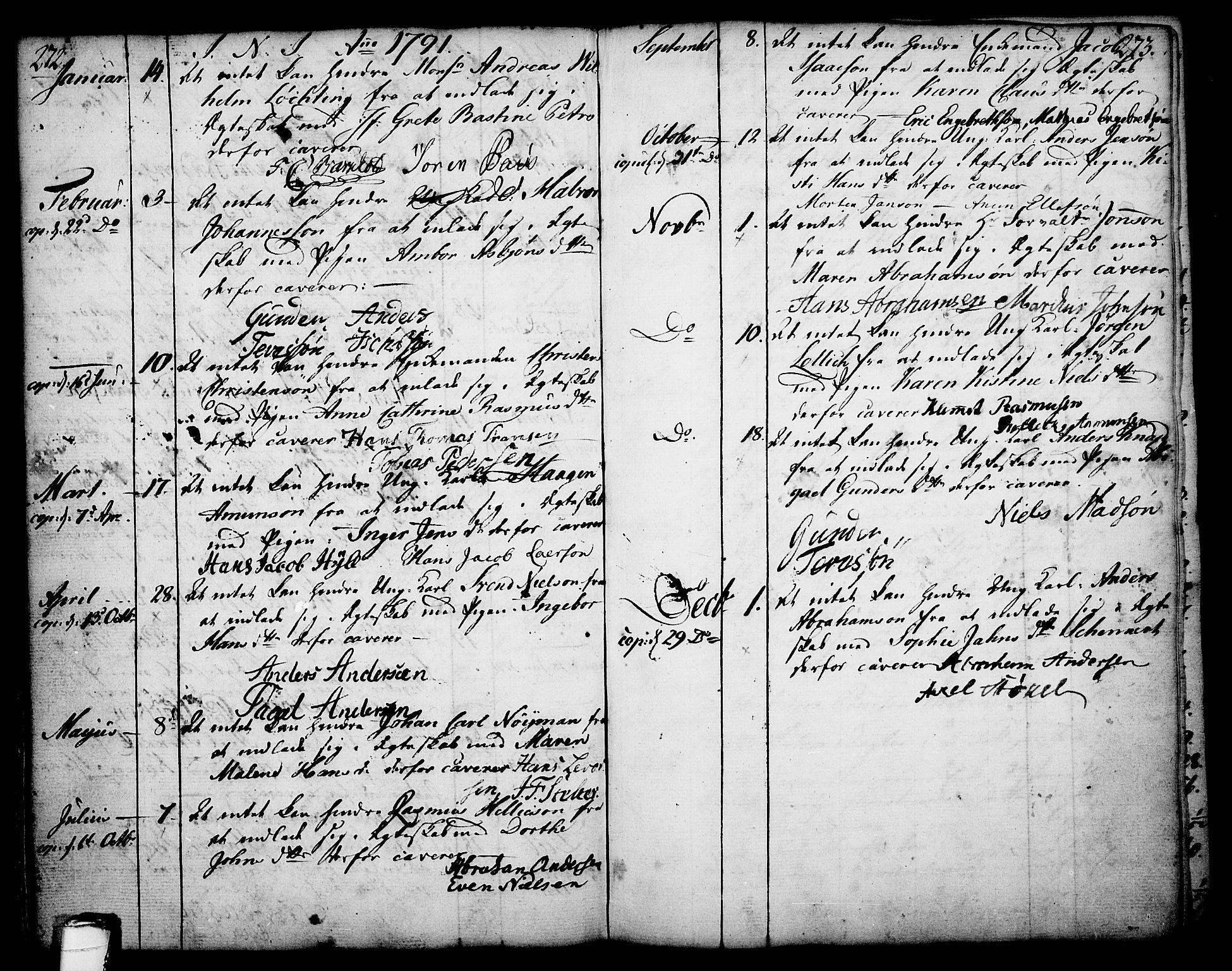 SAKO, Skien kirkebøker, F/Fa/L0003: Ministerialbok nr. 3, 1755-1791, s. 272-273