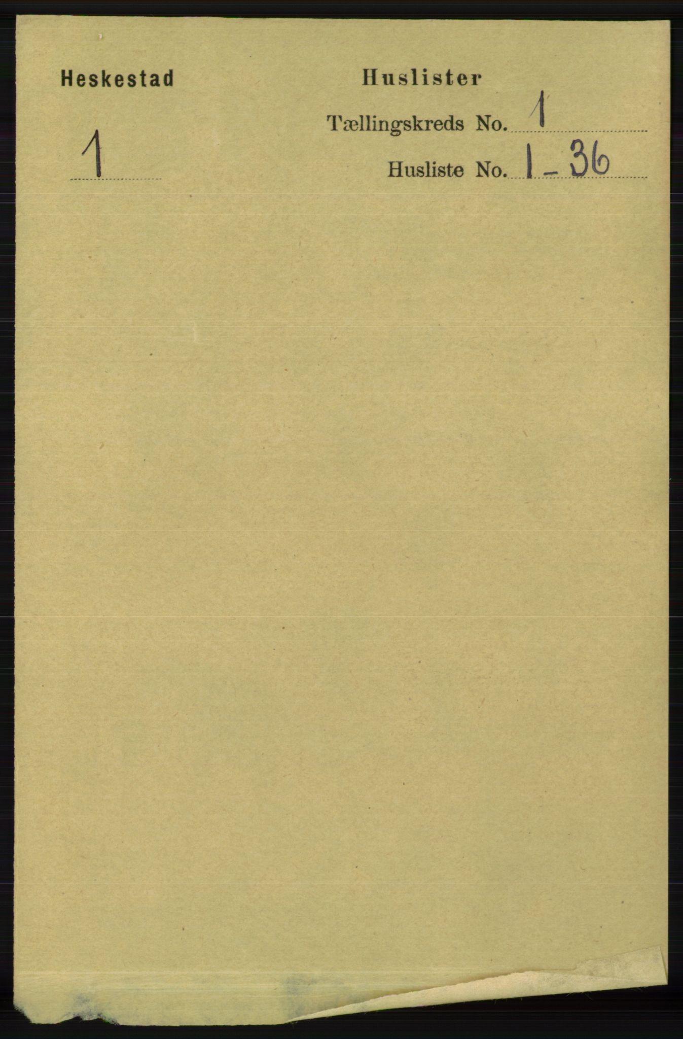 RA, Folketelling 1891 for 1113 Heskestad herred, 1891, s. 18