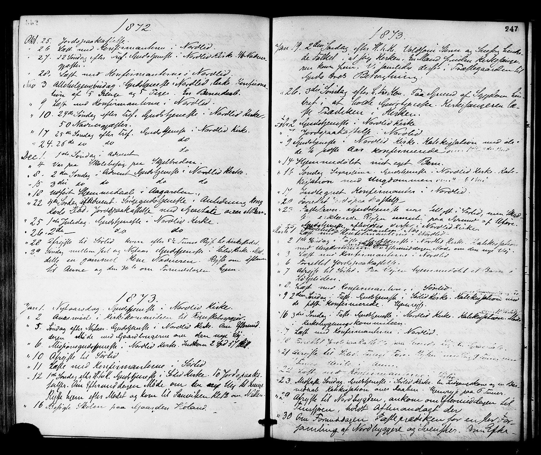 SAT, Ministerialprotokoller, klokkerbøker og fødselsregistre - Nord-Trøndelag, 755/L0493: Ministerialbok nr. 755A02, 1865-1881, s. 247