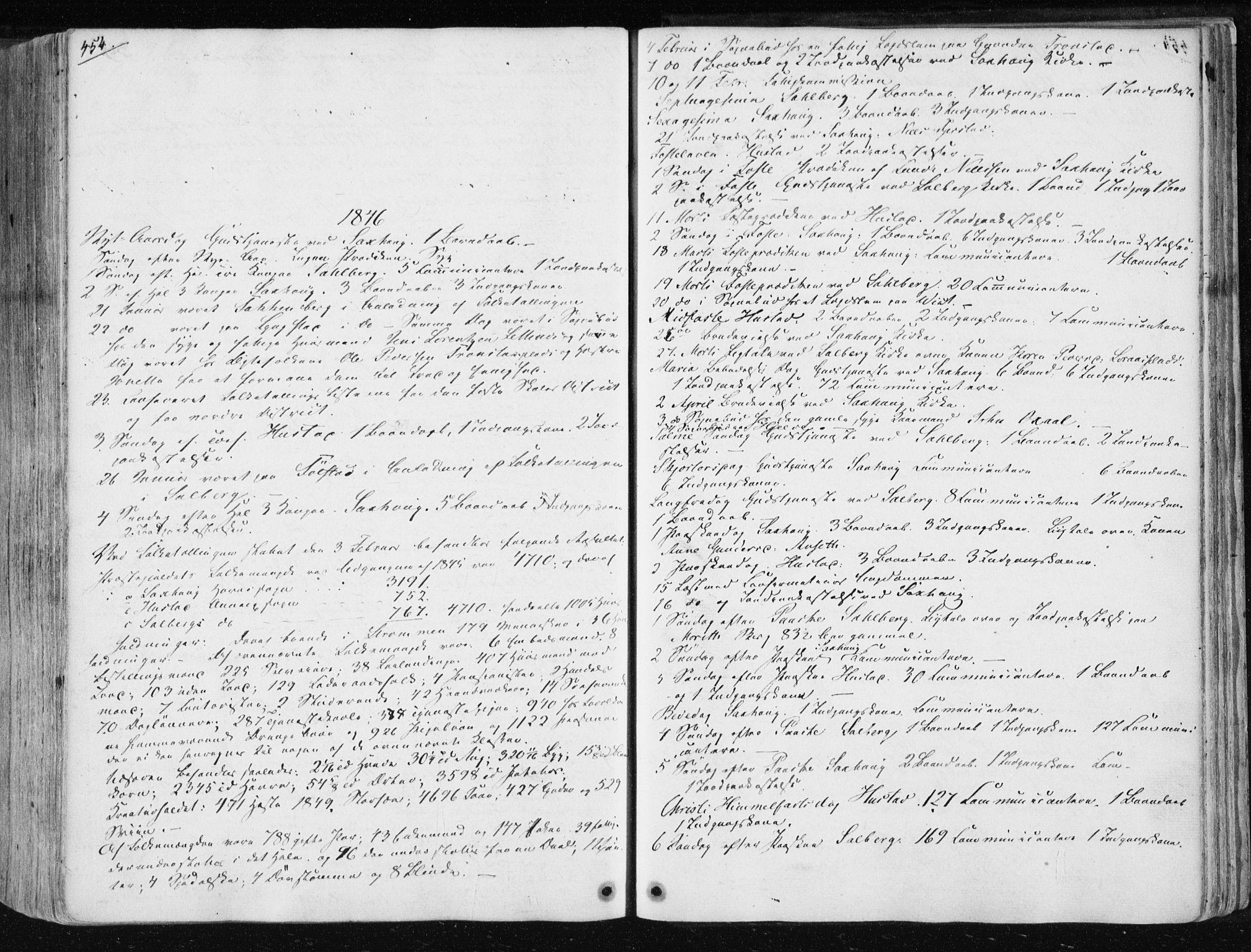 SAT, Ministerialprotokoller, klokkerbøker og fødselsregistre - Nord-Trøndelag, 730/L0280: Ministerialbok nr. 730A07 /1, 1840-1854, s. 454