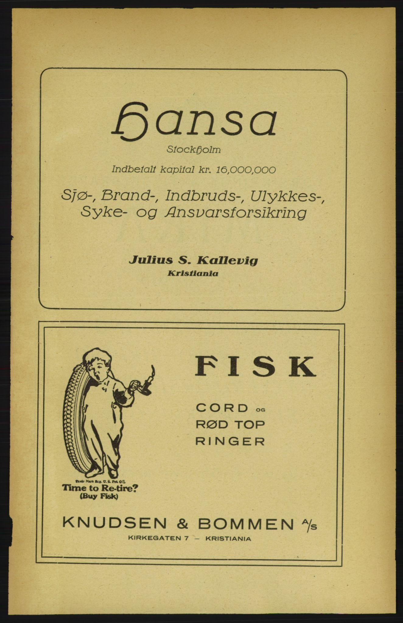 PUBL, Aker adressebok/adressekalender, 1922