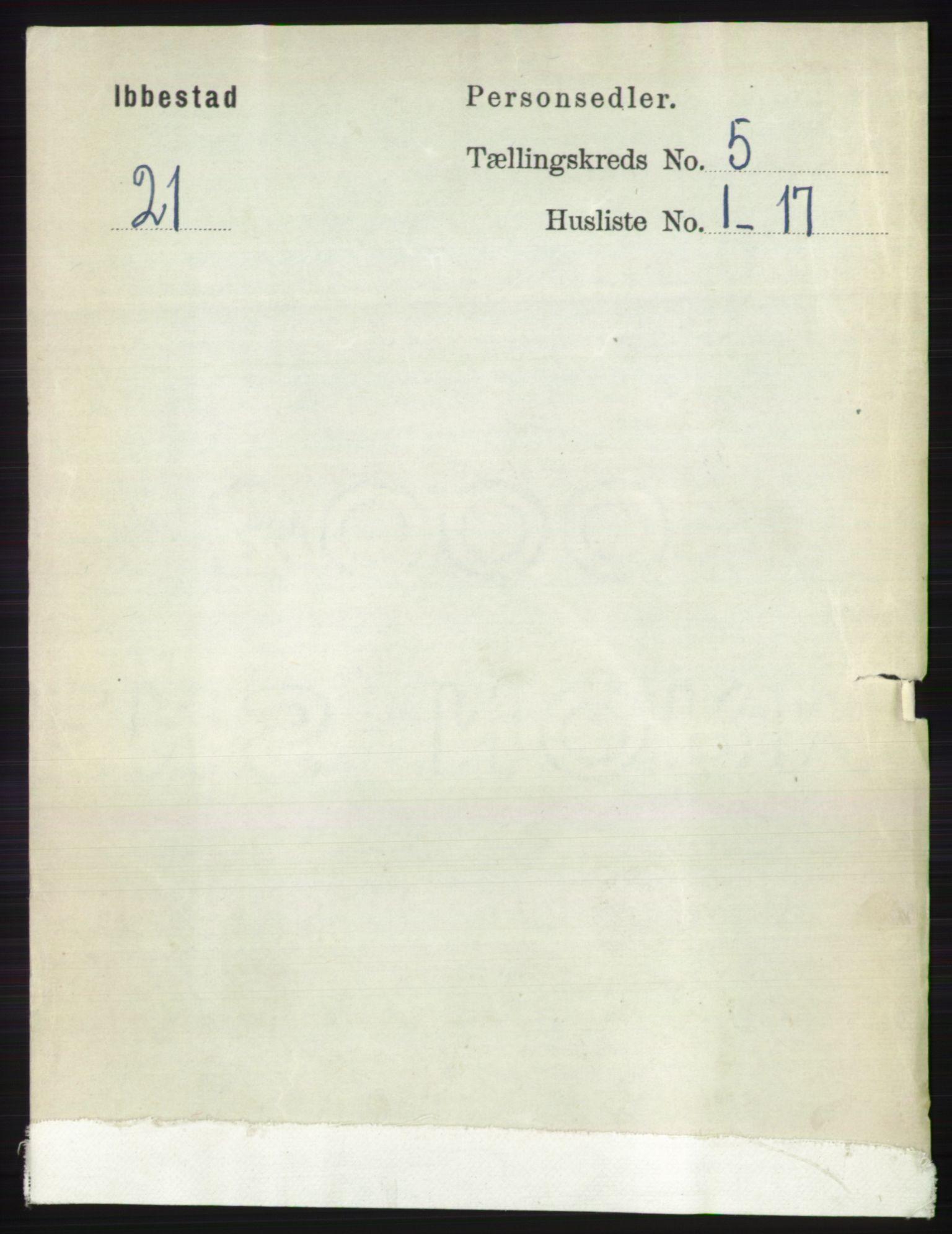 RA, Folketelling 1891 for 1917 Ibestad herred, 1891, s. 2932