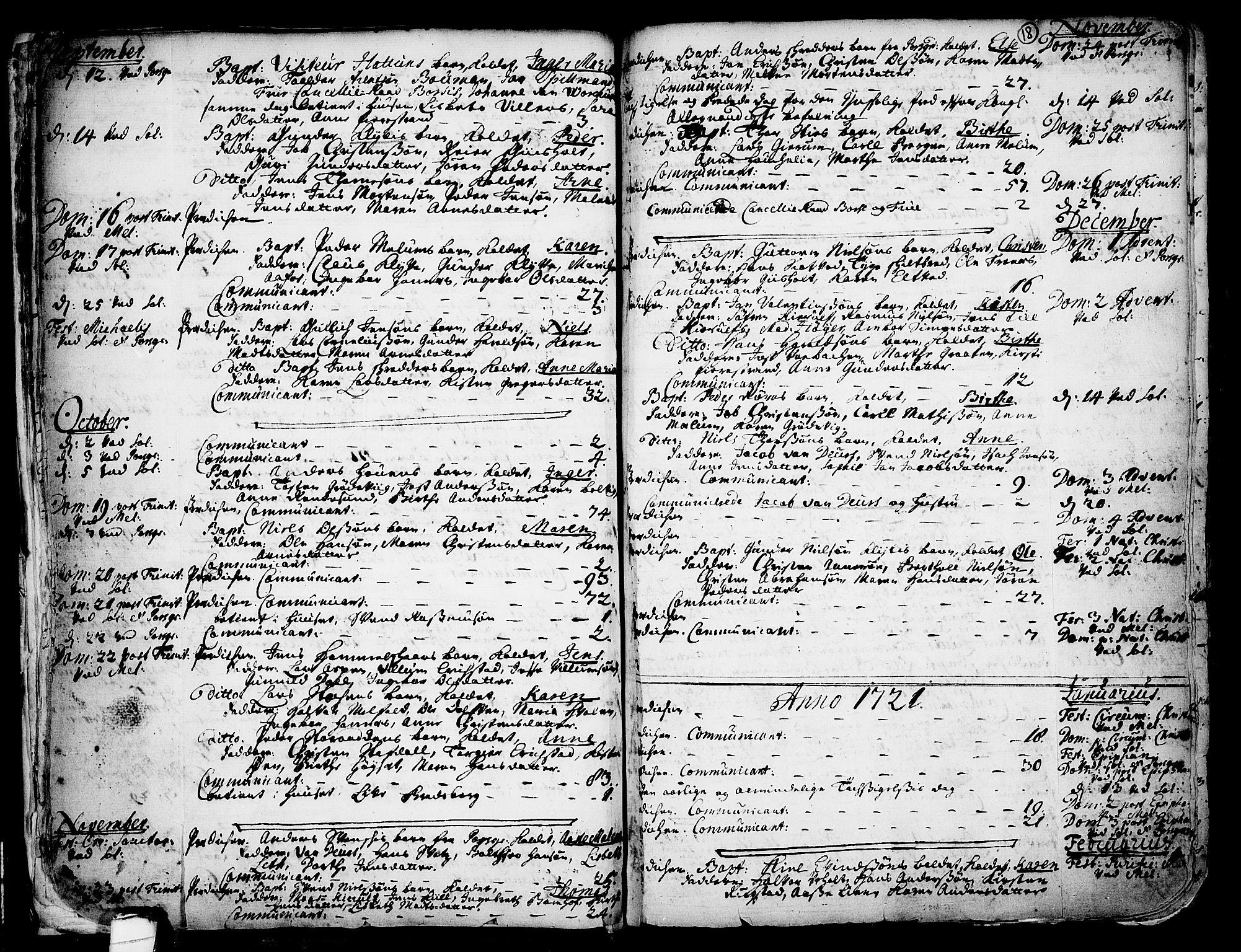 SAKO, Solum kirkebøker, F/Fa/L0002: Ministerialbok nr. I 2, 1713-1761, s. 18
