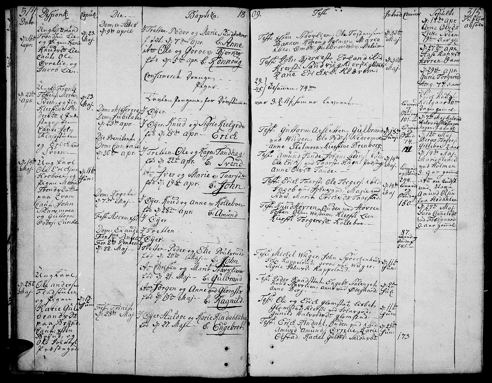 SAH, Øyer prestekontor, Ministerialbok nr. 3, 1784-1824, s. 314-315