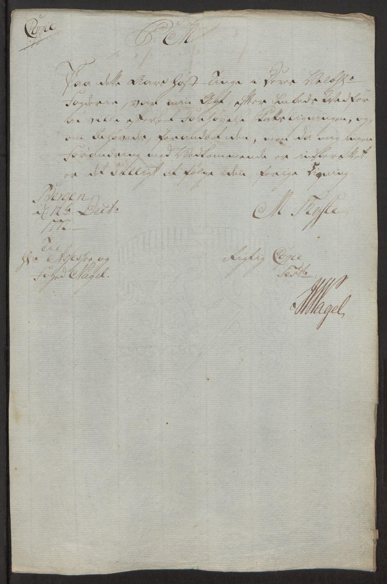 RA, Rentekammeret inntil 1814, Reviderte regnskaper, Fogderegnskap, R53/L3551: Ekstraskatten Sunn- og Nordfjord, 1772, s. 34