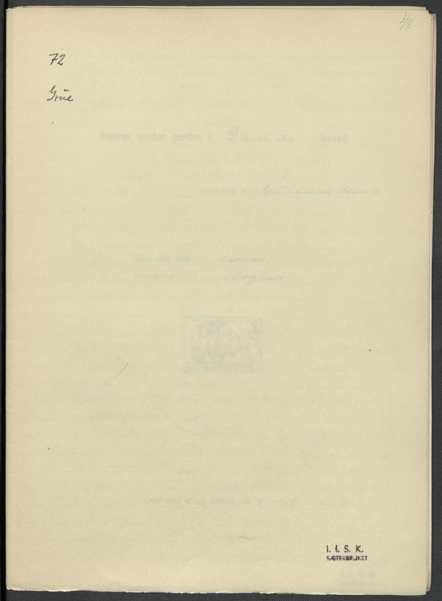 RA, Instituttet for sammenlignende kulturforskning, F/Fc/L0003: Eske B3:, 1934-1935, s. 48