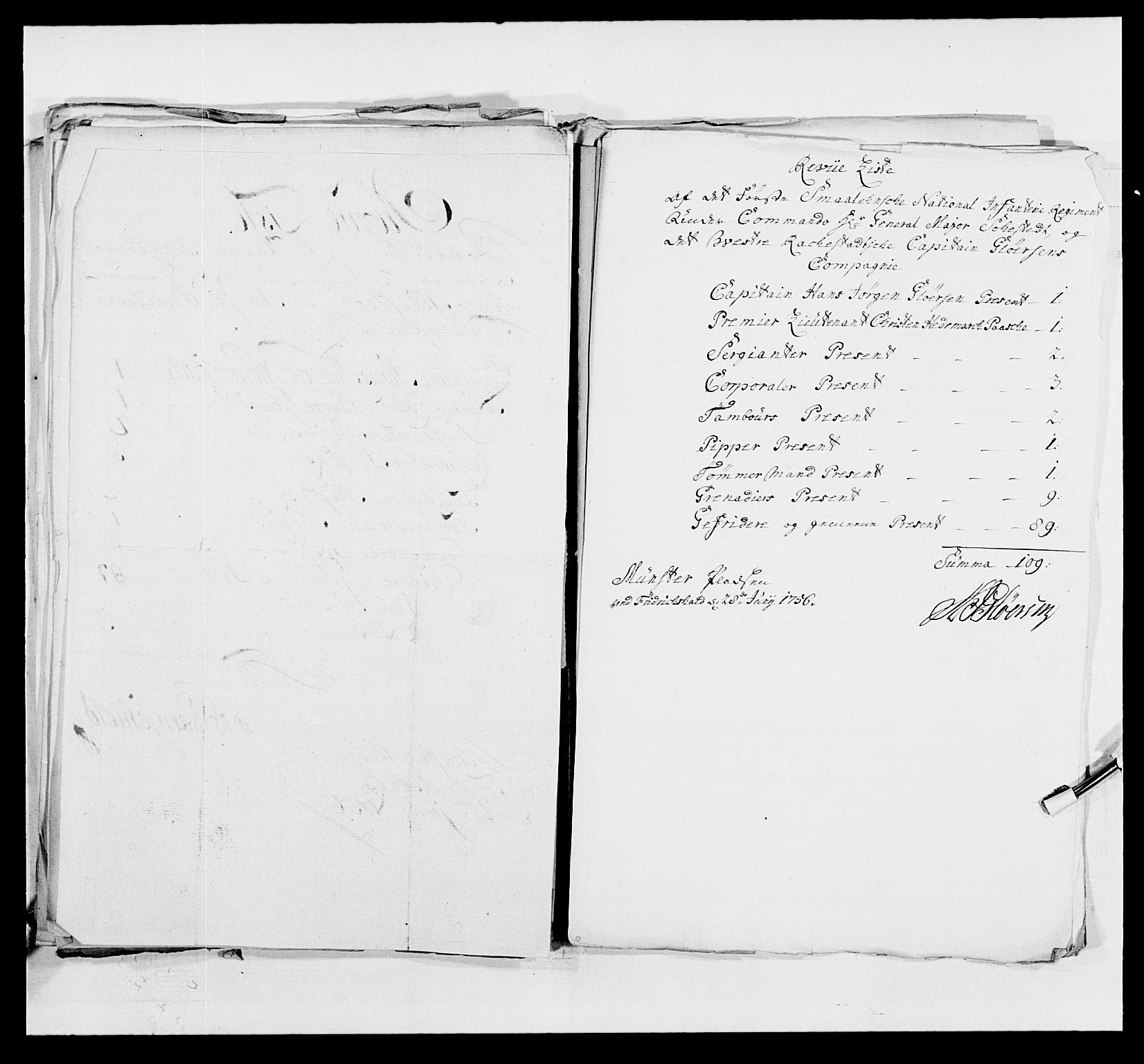 RA, Kommanderende general (KG I) med Det norske krigsdirektorium, E/Ea/L0495: 1. Smålenske regiment, 1732-1763, s. 623