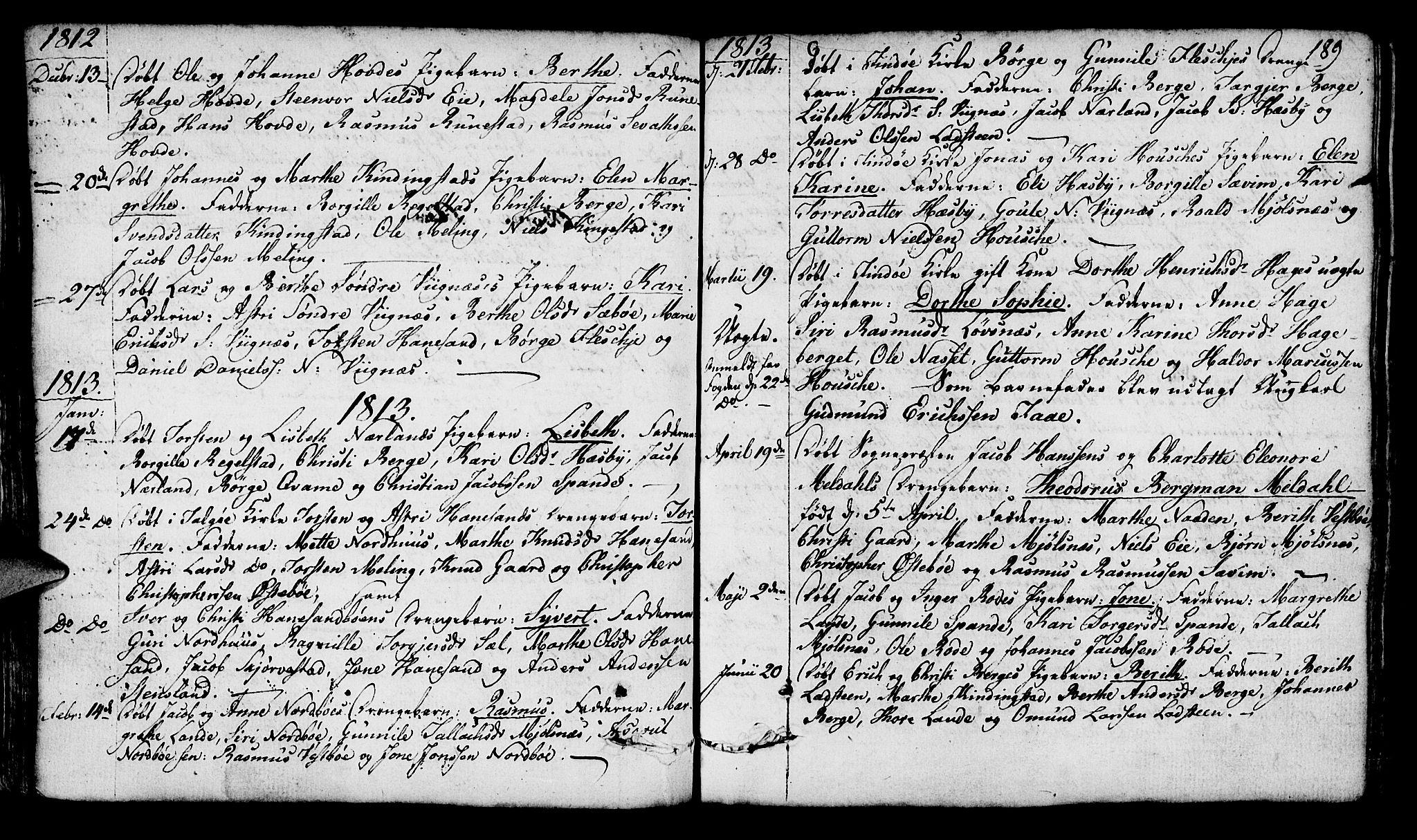 SAST, Finnøy sokneprestkontor, H/Ha/Haa/L0005: Ministerialbok nr. A 5, 1773-1816, s. 189