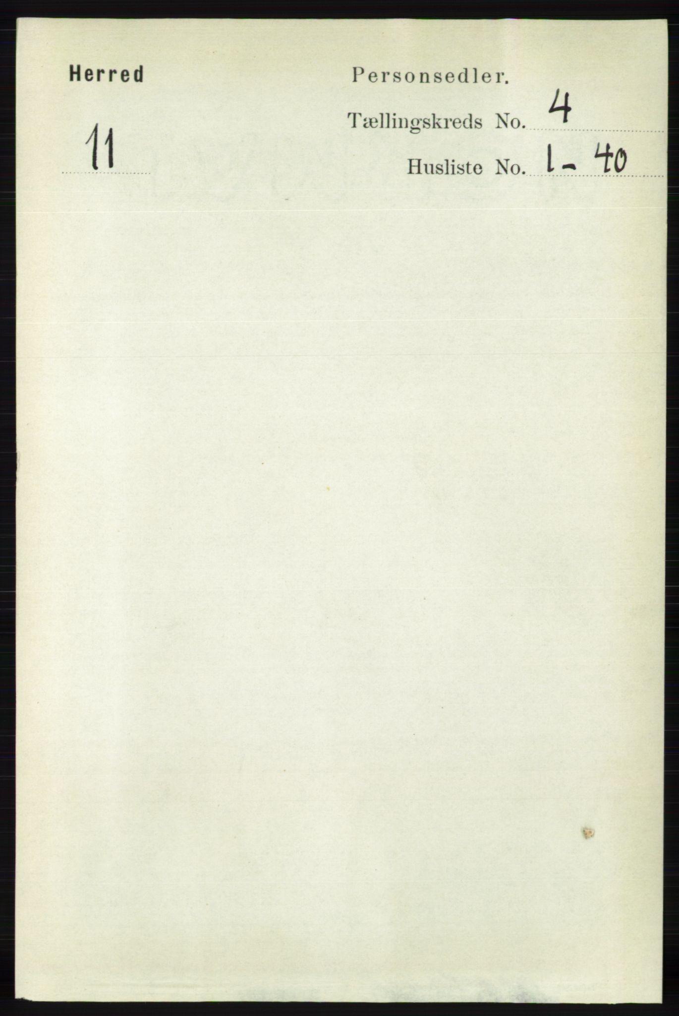RA, Folketelling 1891 for 1039 Herad herred, 1891, s. 1418