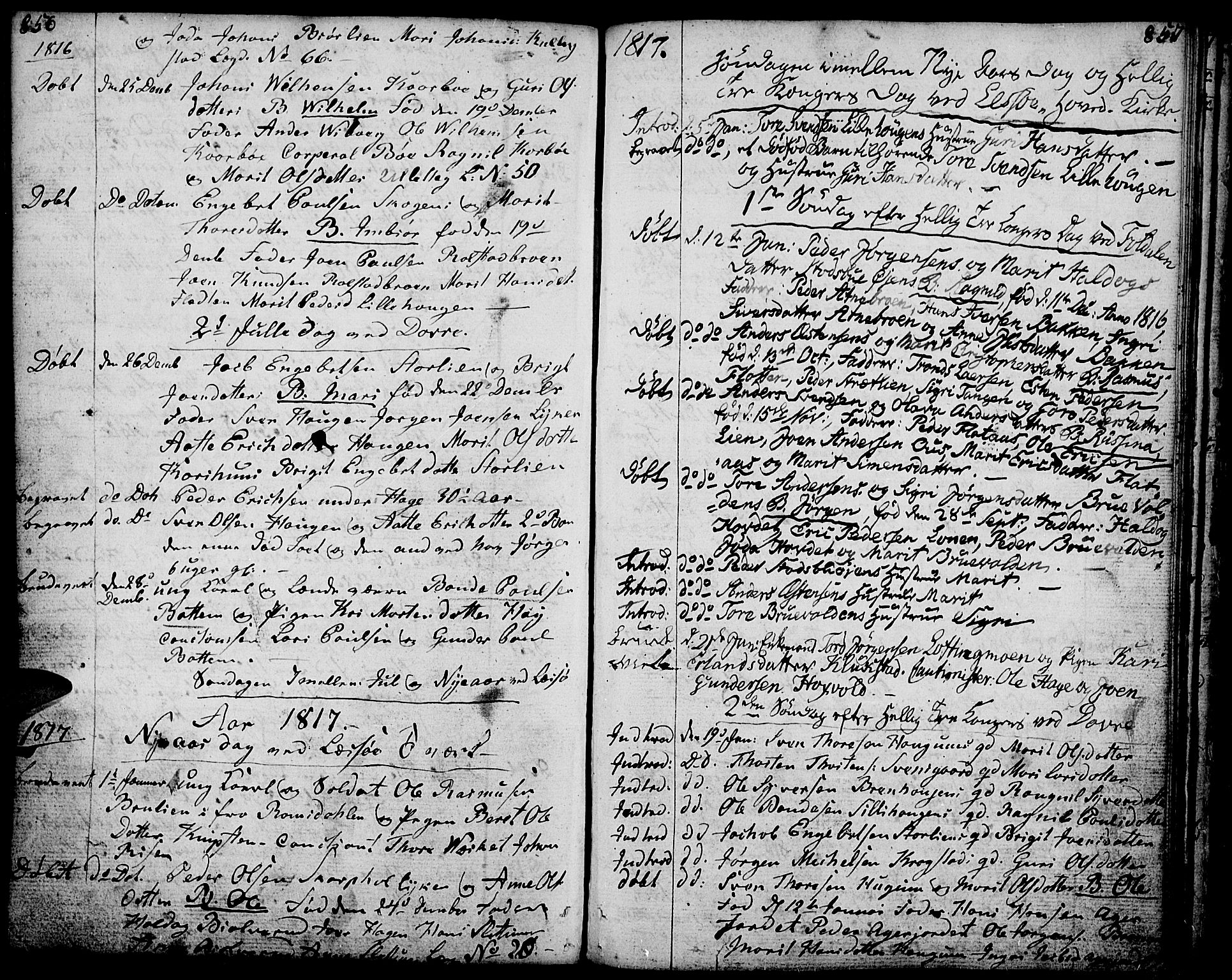 SAH, Lesja prestekontor, Ministerialbok nr. 3, 1777-1819, s. 856-857