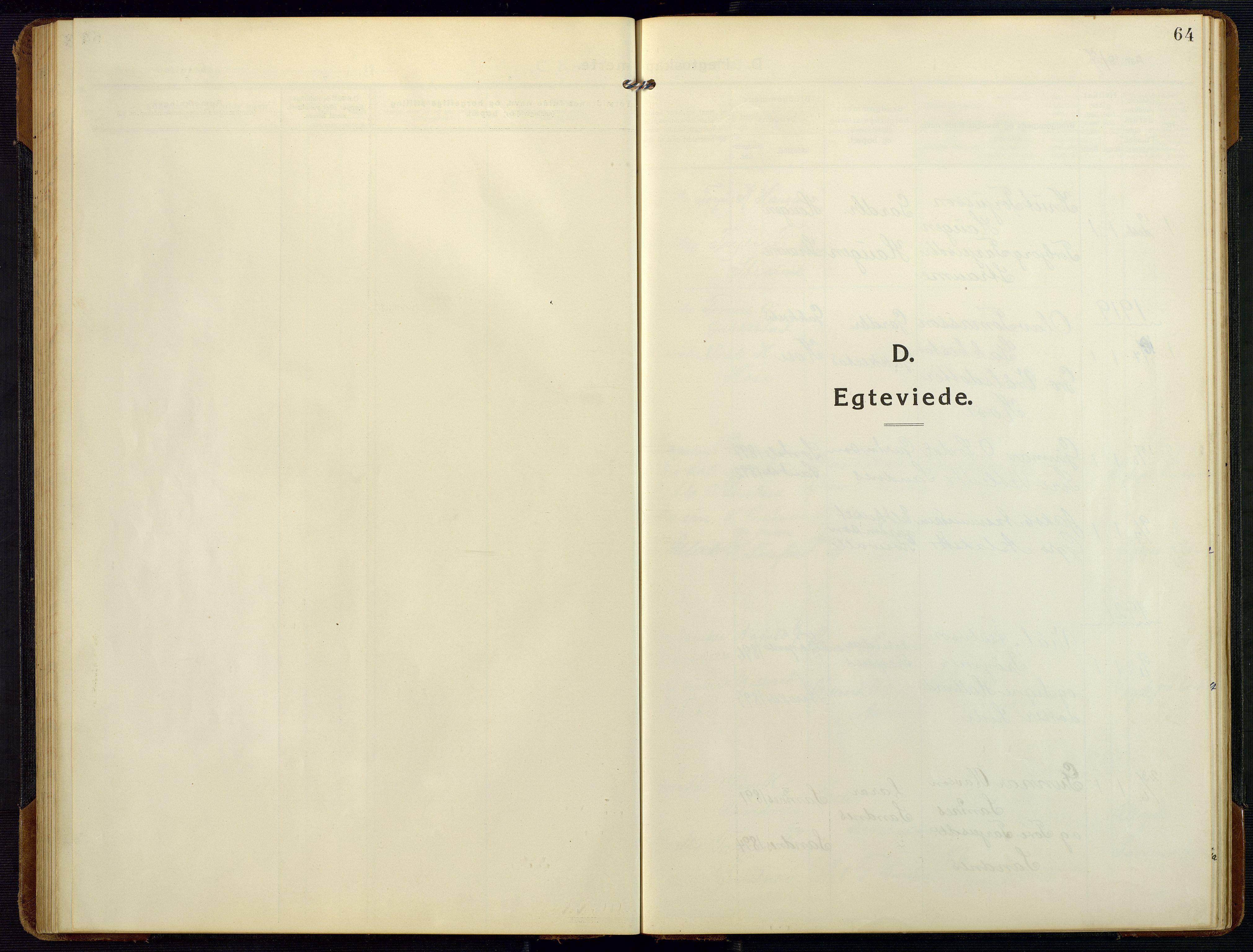 SAK, Bygland sokneprestkontor, F/Fb/Fbc/L0003: Klokkerbok nr. B 3, 1916-1975, s. 64