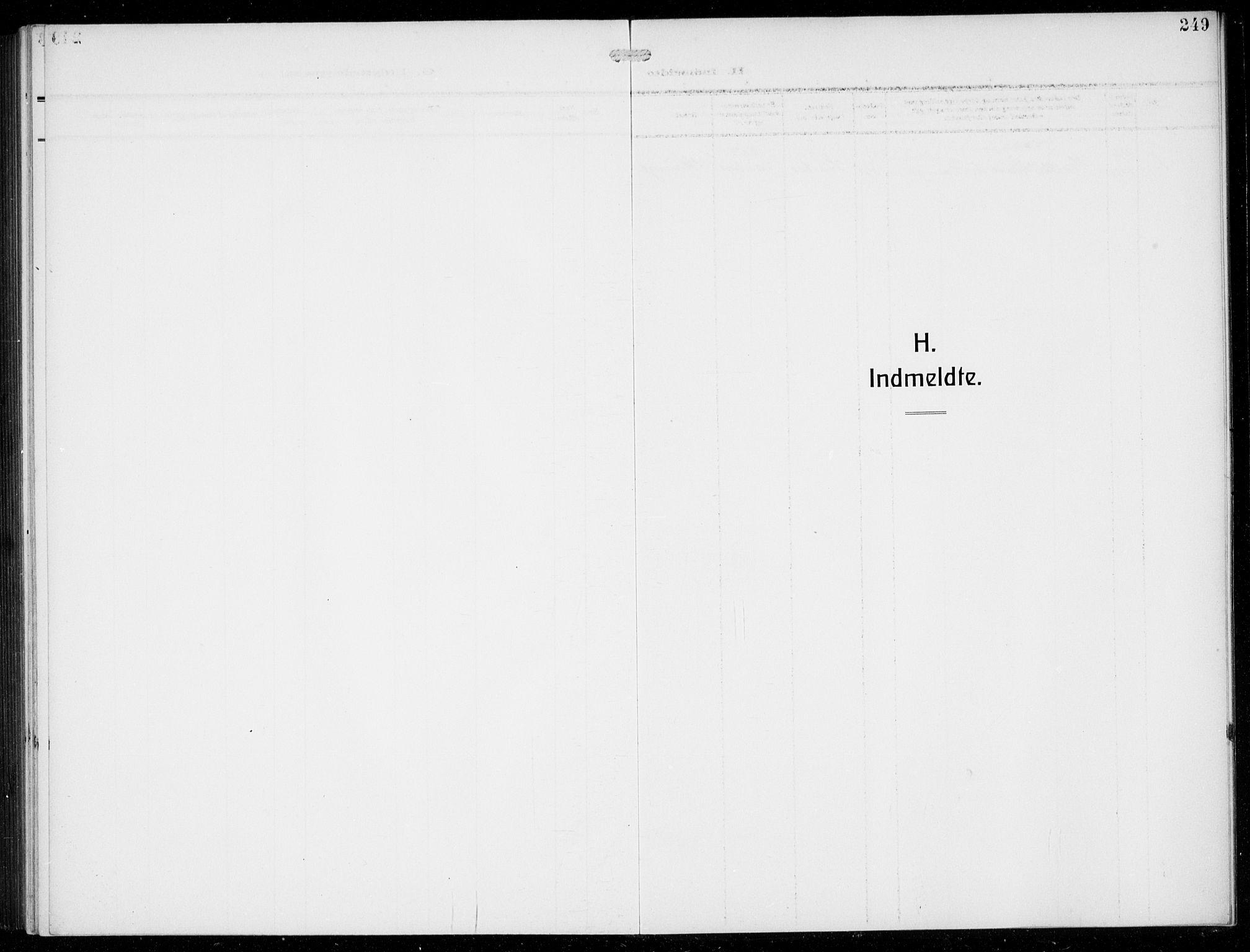 SAB, Masfjorden Sokneprestembete, Klokkerbok nr. B  2, 1912-1939, s. 249