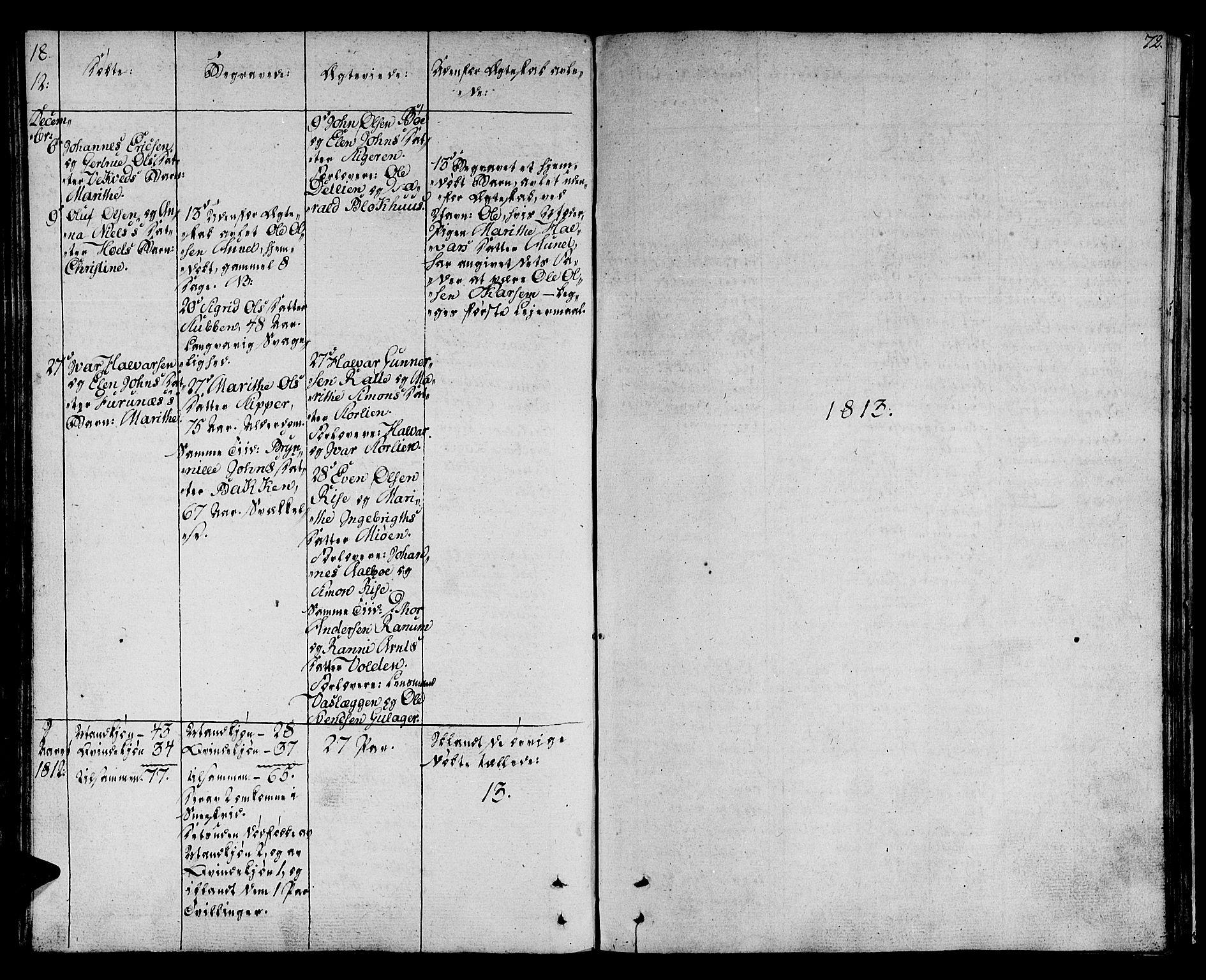 SAT, Ministerialprotokoller, klokkerbøker og fødselsregistre - Sør-Trøndelag, 678/L0894: Ministerialbok nr. 678A04, 1806-1815, s. 72