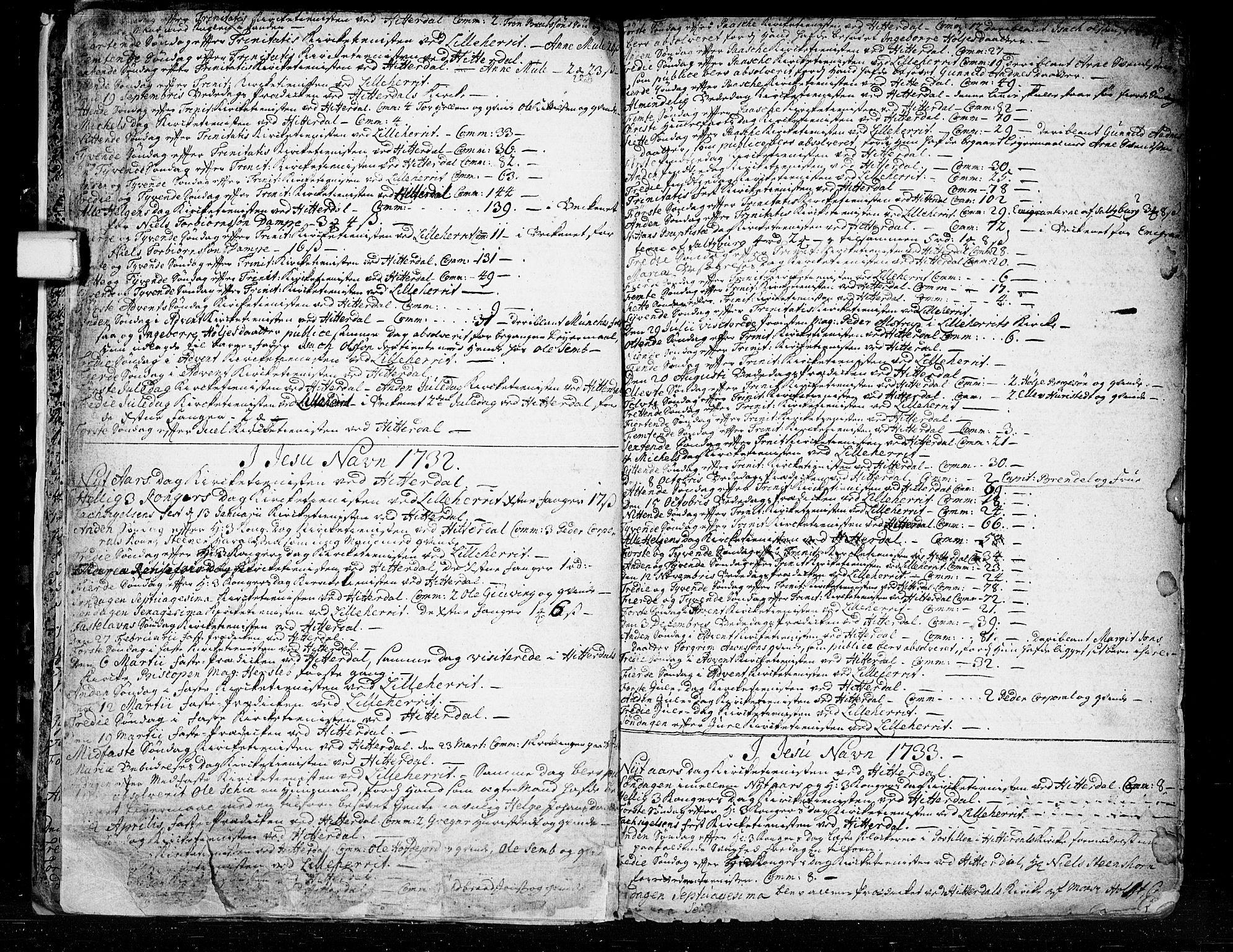SAKO, Heddal kirkebøker, F/Fa/L0003: Ministerialbok nr. I 3, 1723-1783, s. 11