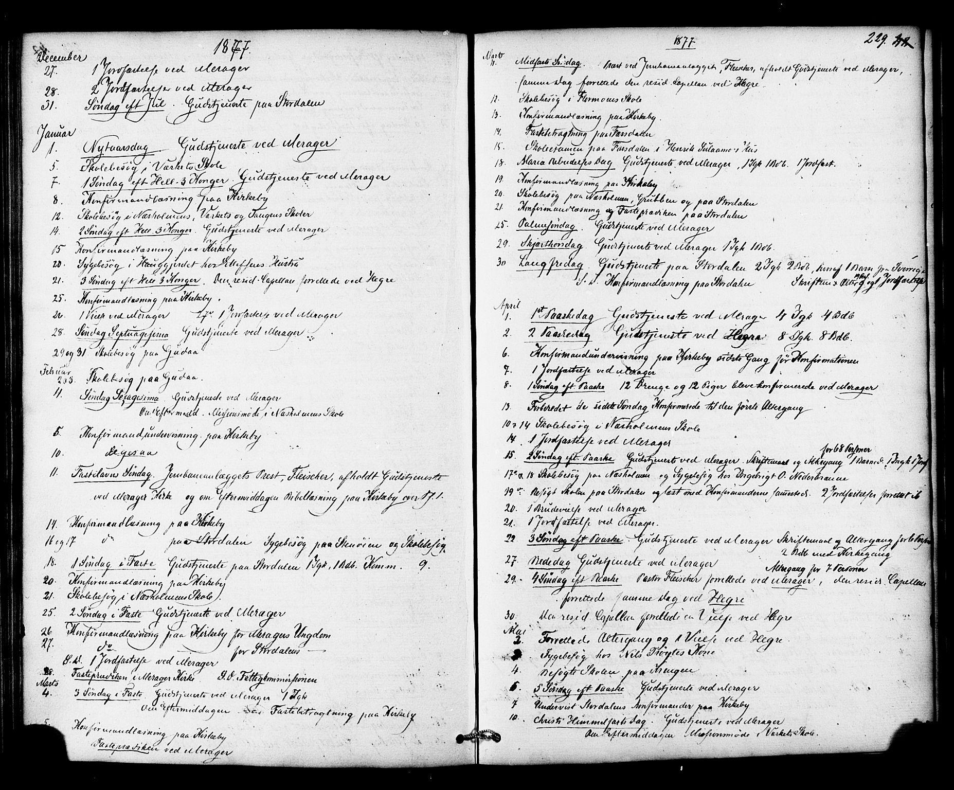 SAT, Ministerialprotokoller, klokkerbøker og fødselsregistre - Nord-Trøndelag, 706/L0041: Ministerialbok nr. 706A02, 1862-1877, s. 229