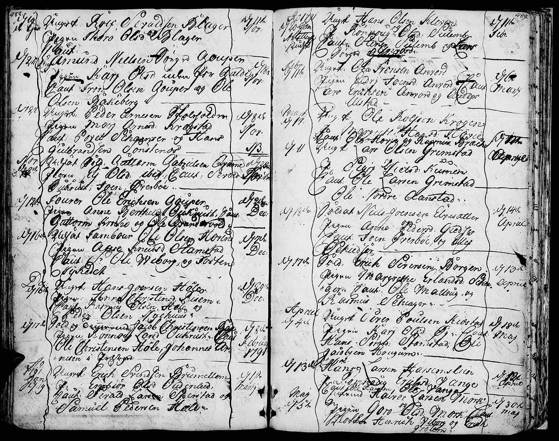 SAH, Lom prestekontor, K/L0002: Ministerialbok nr. 2, 1749-1801, s. 488-489