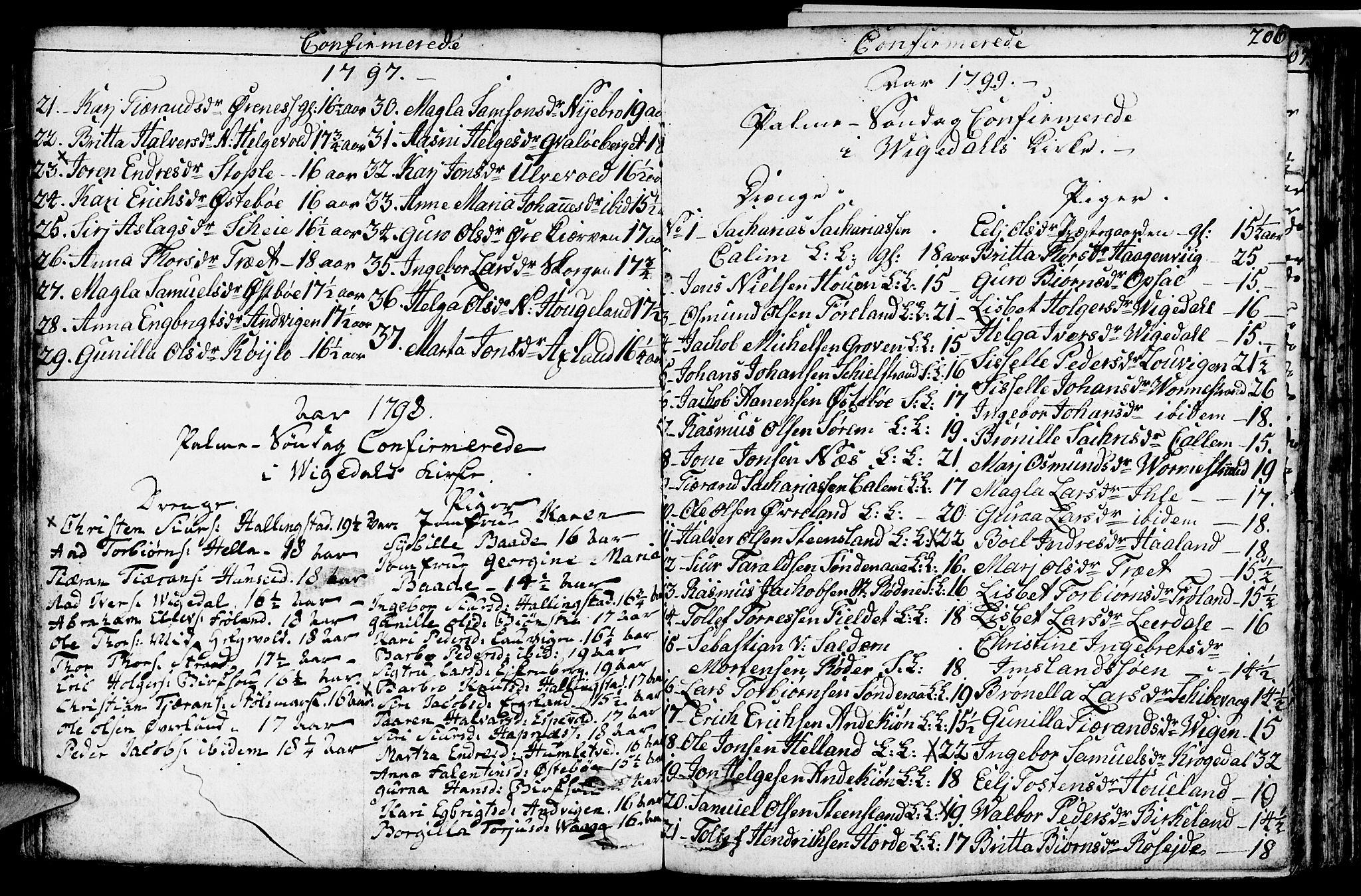 SAST, Vikedal sokneprestkontor, IV: Ministerialbok nr. A 2, 1779-1817, s. 206