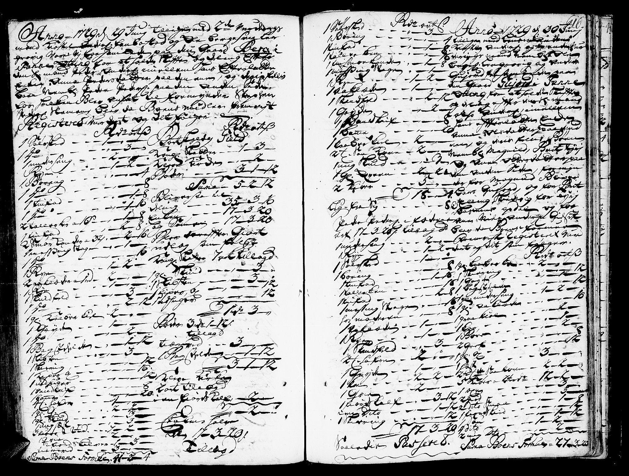 SAT, Romsdal sorenskriveri, 3/3A/L0006: Skifteprotokoll, 1718-1730, s. 615b-616a