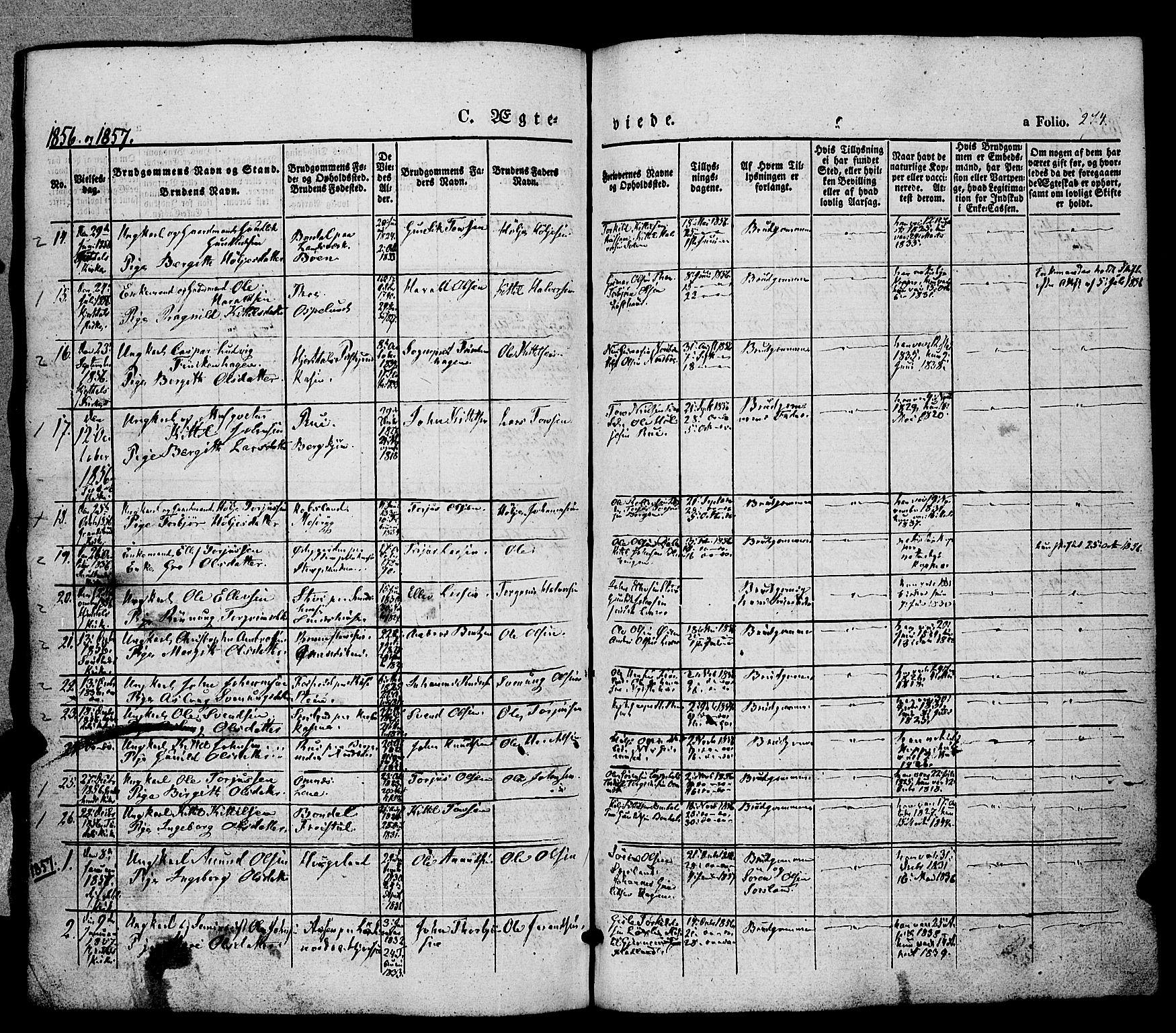 SAKO, Hjartdal kirkebøker, F/Fa/L0008: Ministerialbok nr. I 8, 1844-1859, s. 274
