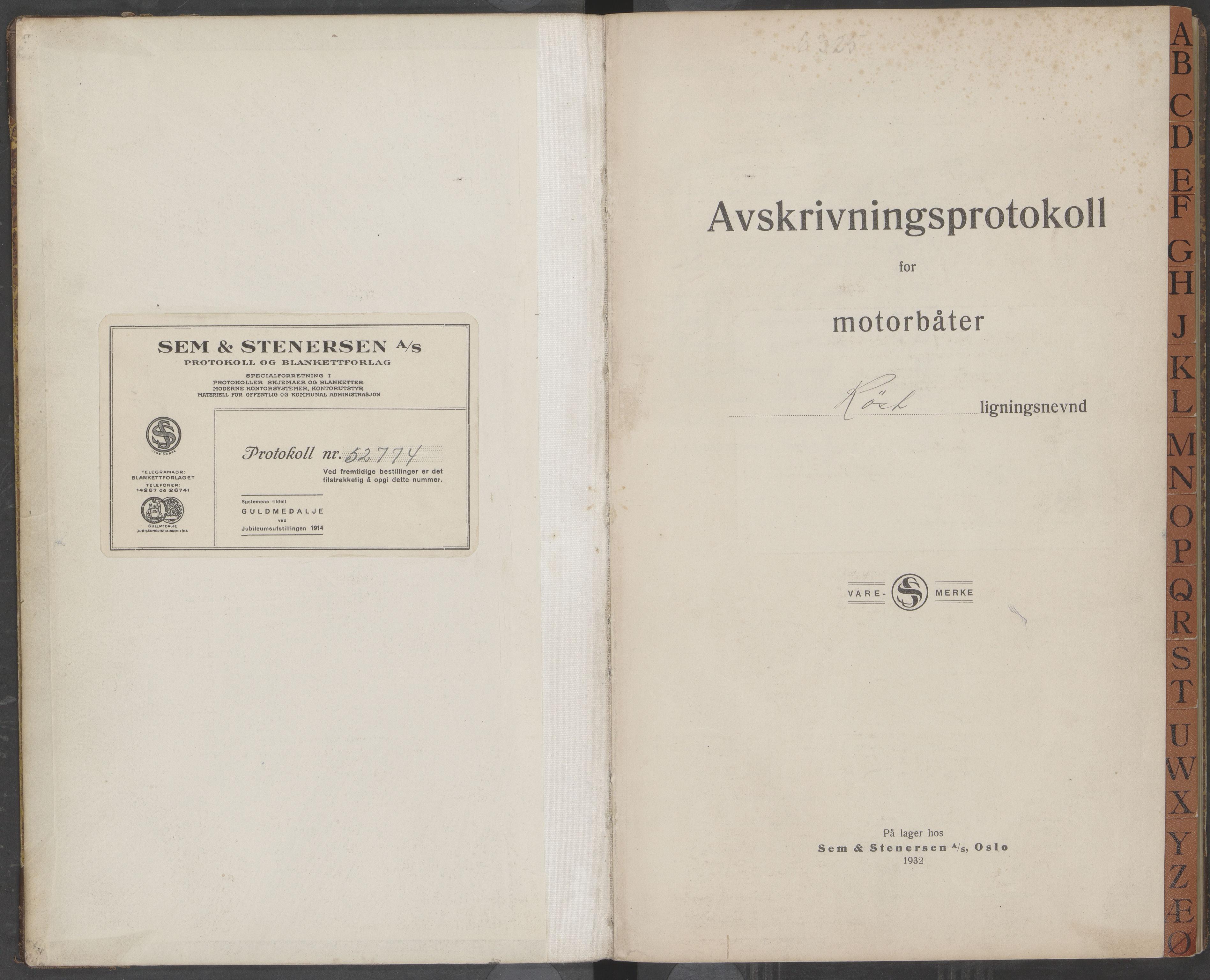 AIN, Røst kommune. Ligningsnemnd, 330/L0001: Avskrivningsprotokoll, 1930-1957