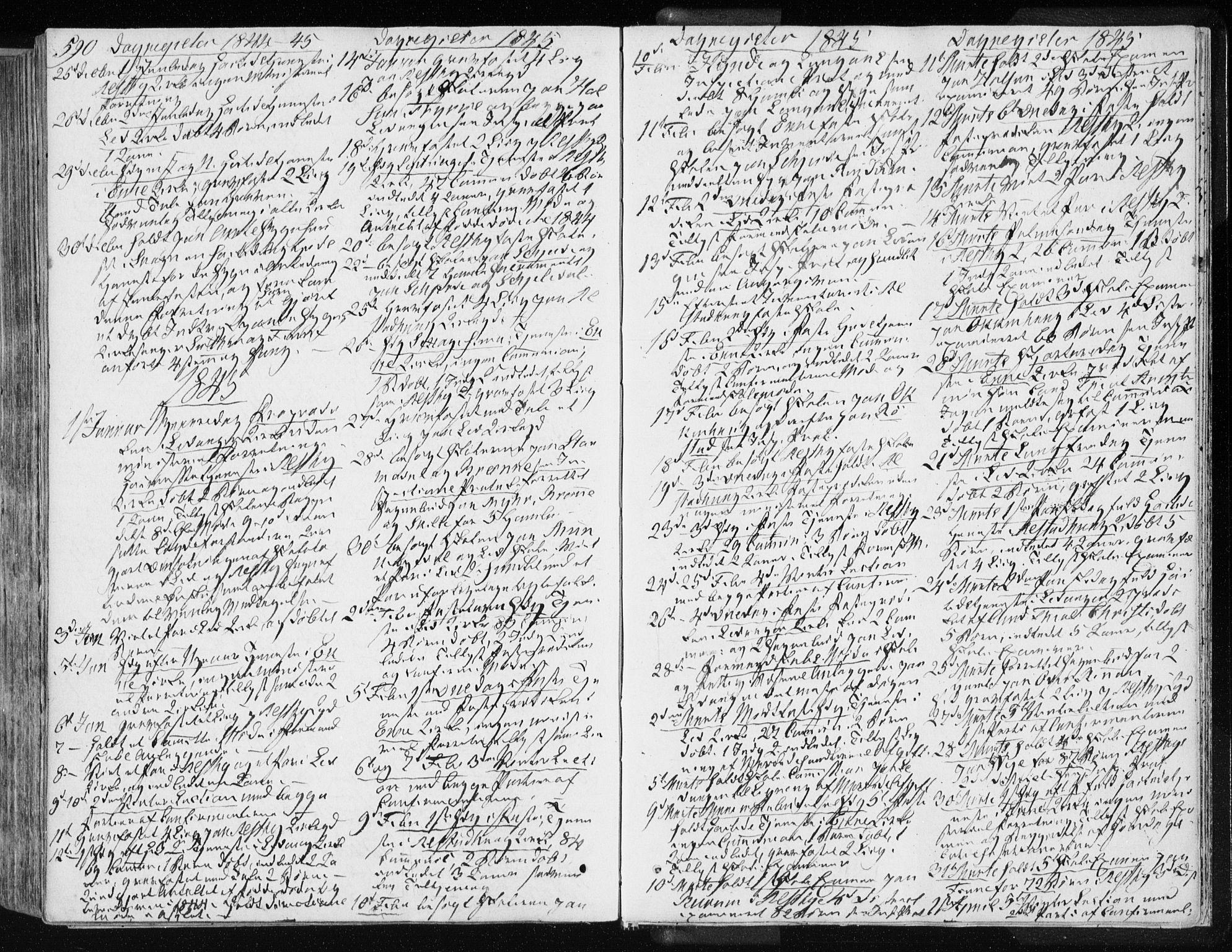 SAT, Ministerialprotokoller, klokkerbøker og fødselsregistre - Nord-Trøndelag, 717/L0154: Ministerialbok nr. 717A06 /1, 1836-1849, s. 590