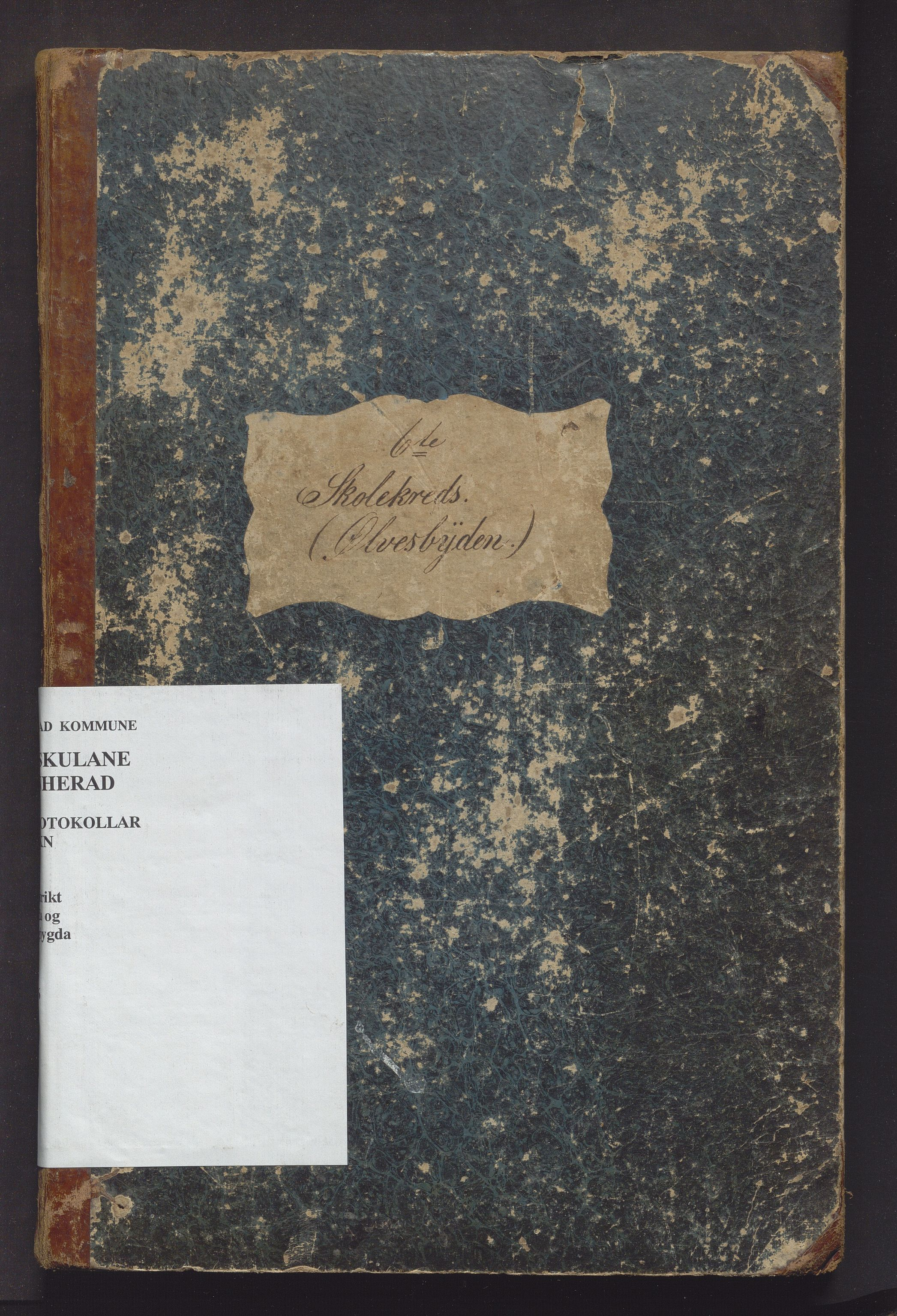IKAH, Kvinnherad kommune. Barneskulane, F/Fb/L0002: Skuleprotokoll for Ølvesbygden og Fuglebergbygden i 6. skuledistrikt, 1863-1876