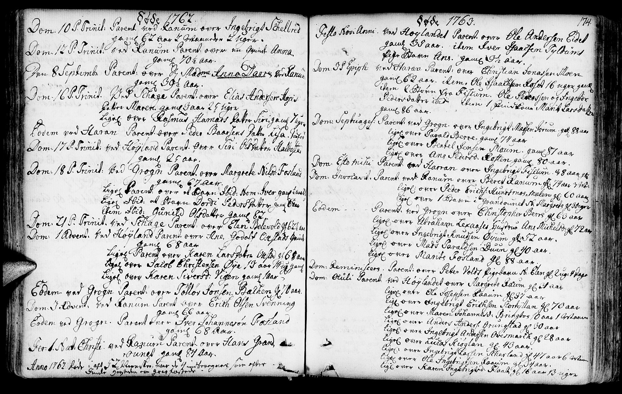 SAT, Ministerialprotokoller, klokkerbøker og fødselsregistre - Nord-Trøndelag, 764/L0542: Ministerialbok nr. 764A02, 1748-1779, s. 174