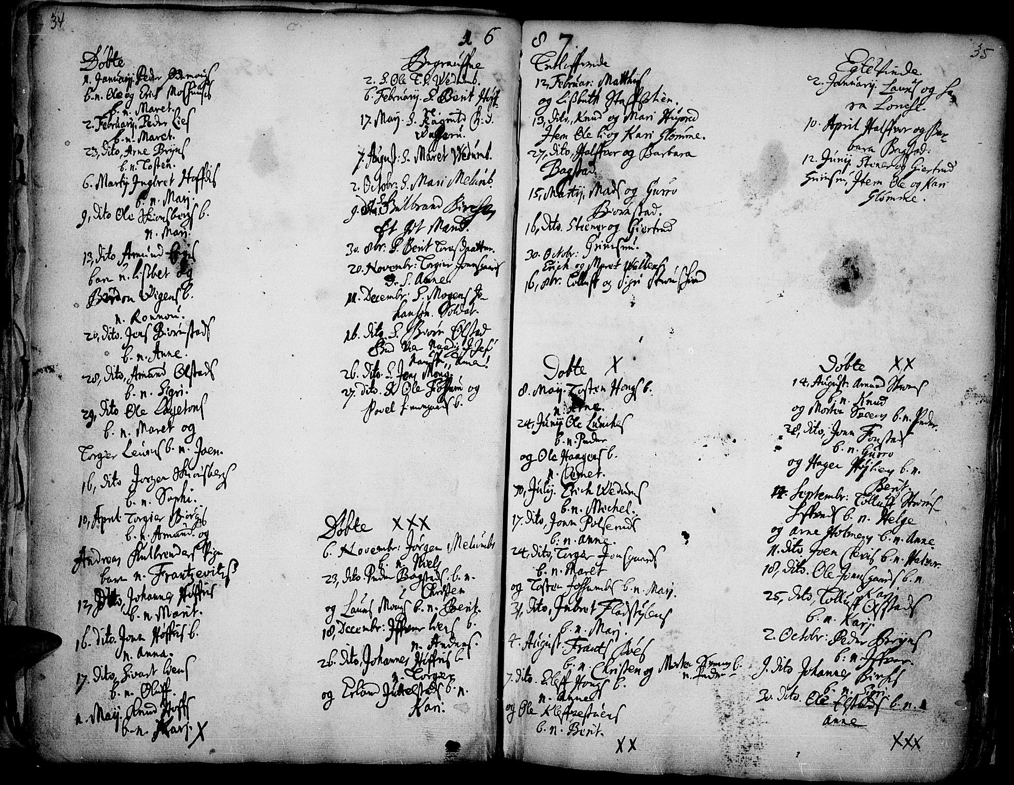 SAH, Øyer prestekontor, Ministerialbok nr. 1, 1671-1727, s. 34-35