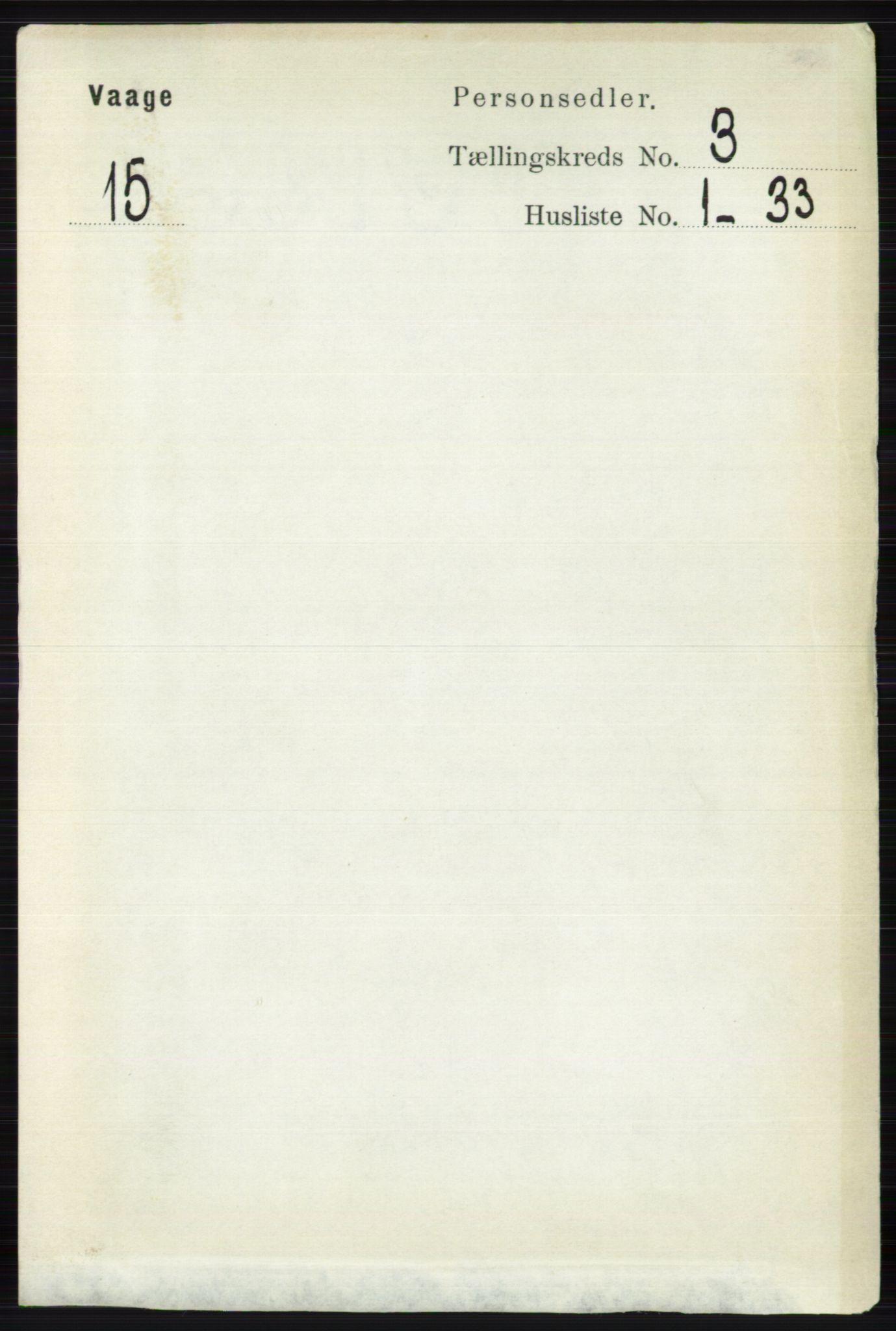 RA, Folketelling 1891 for 0515 Vågå herred, 1891, s. 2326