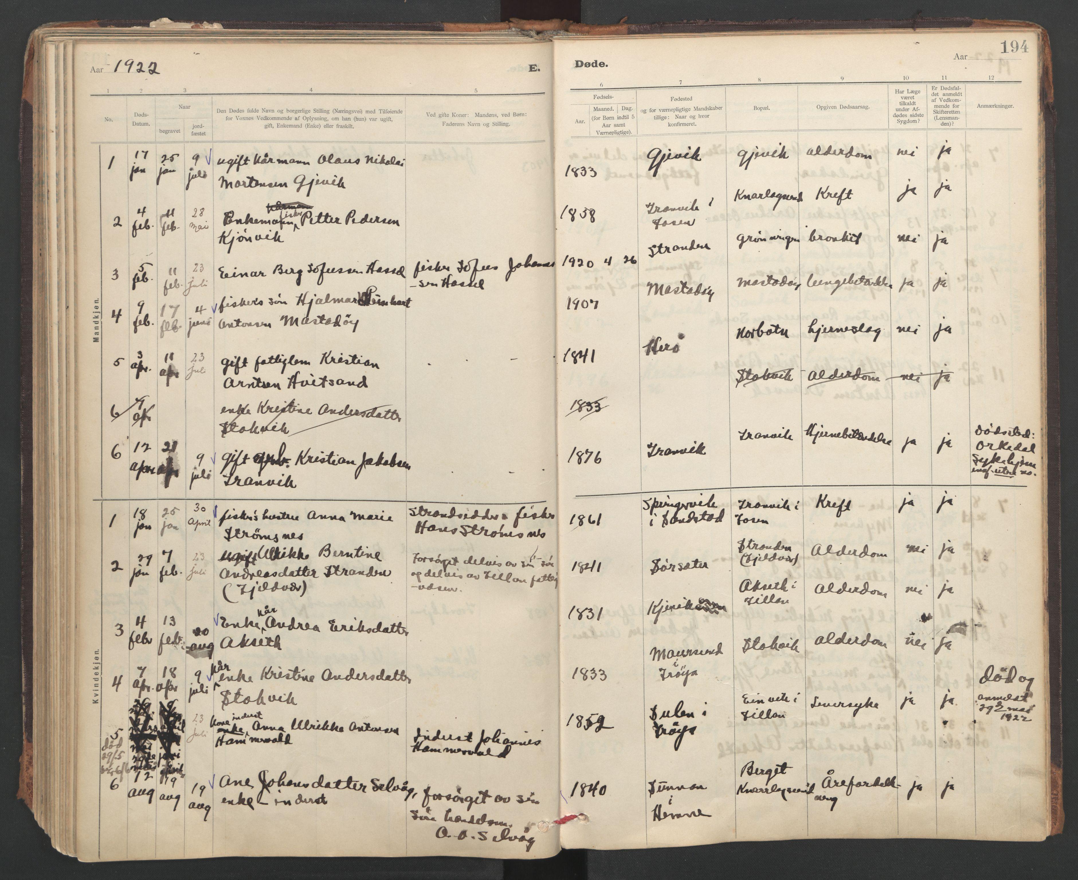 SAT, Ministerialprotokoller, klokkerbøker og fødselsregistre - Sør-Trøndelag, 637/L0559: Ministerialbok nr. 637A02, 1899-1923, s. 194