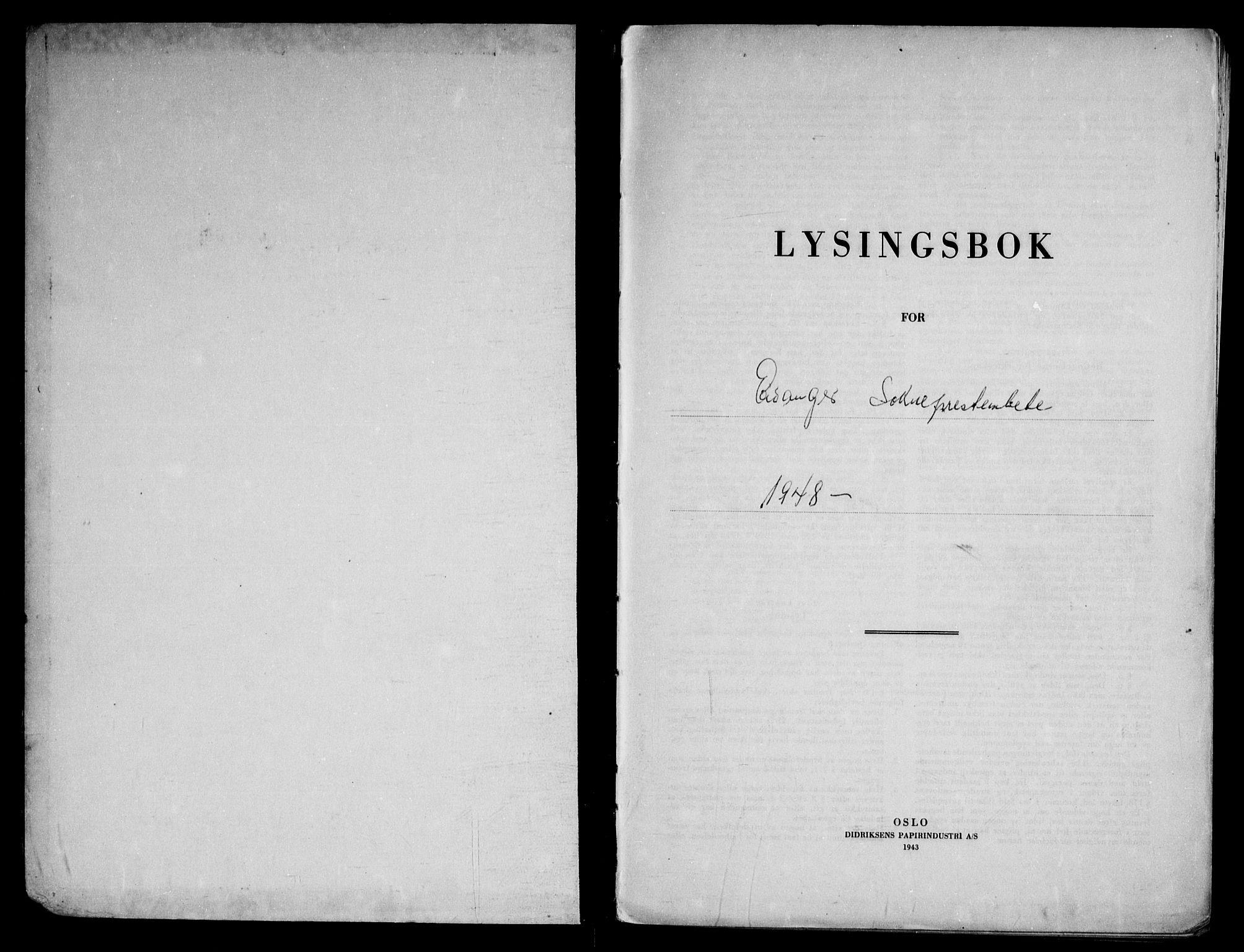 SAKO, Eidanger kirkebøker, H/Ha/L0004: Lysningsprotokoll nr. 4, 1948-1964