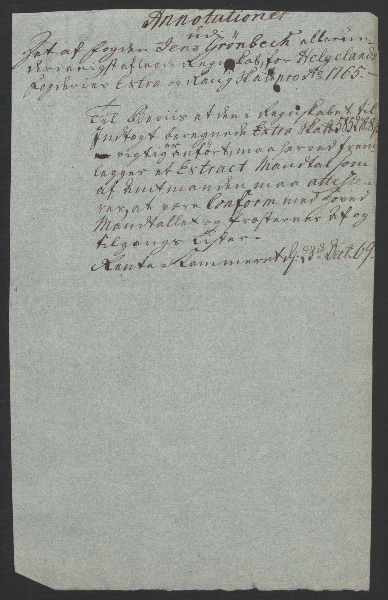RA, Rentekammeret inntil 1814, Reviderte regnskaper, Fogderegnskap, R65/L4573: Ekstraskatten Helgeland, 1762-1772, s. 115