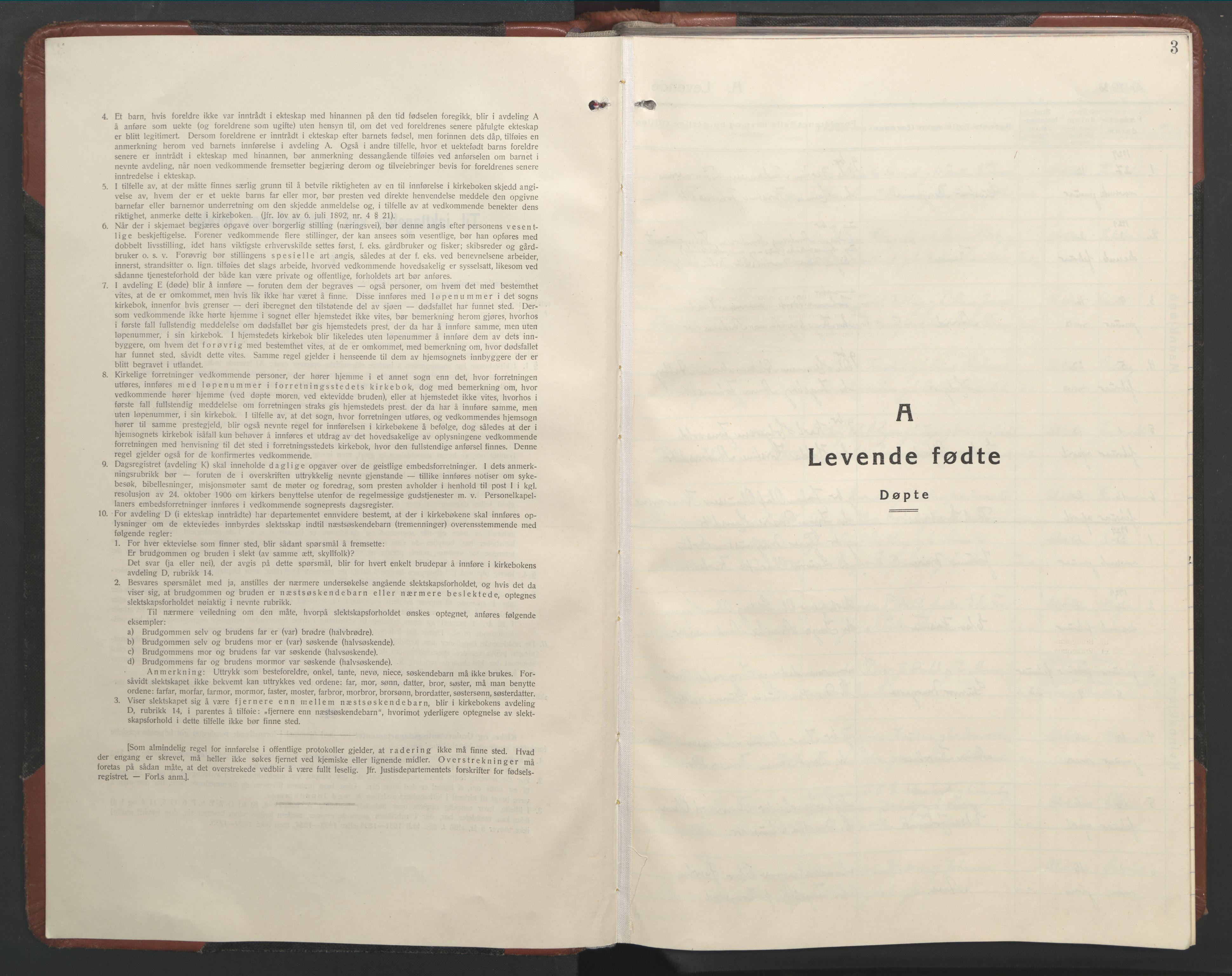 SAT, Ministerialprotokoller, klokkerbøker og fødselsregistre - Nord-Trøndelag, 701/L0019: Klokkerbok nr. 701C03, 1930-1953, s. 3