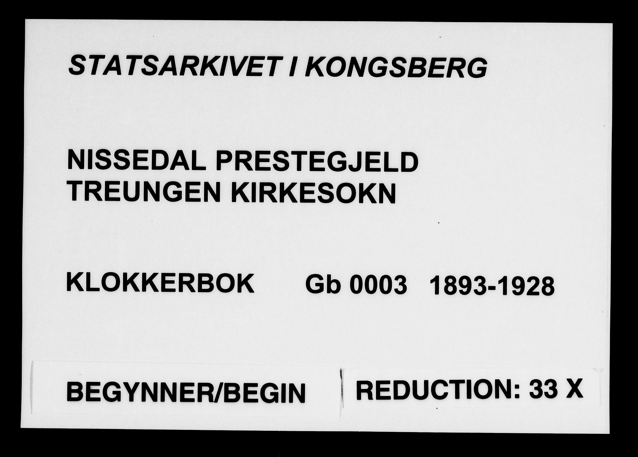 SAKO, Nissedal kirkebøker, G/Gb/L0003: Klokkerbok nr. II 3, 1893-1928