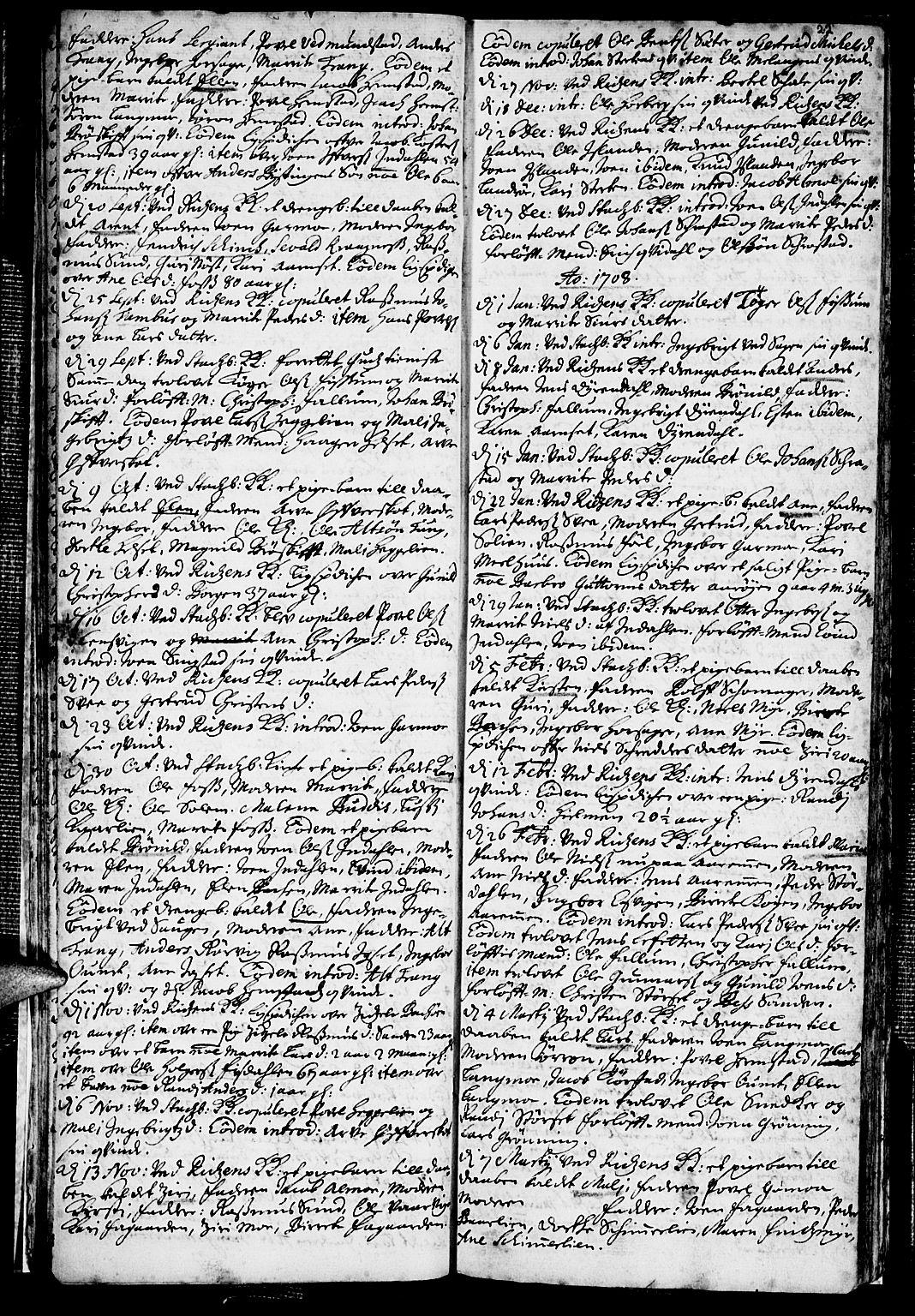 SAT, Ministerialprotokoller, klokkerbøker og fødselsregistre - Sør-Trøndelag, 646/L0603: Ministerialbok nr. 646A01, 1700-1734, s. 22
