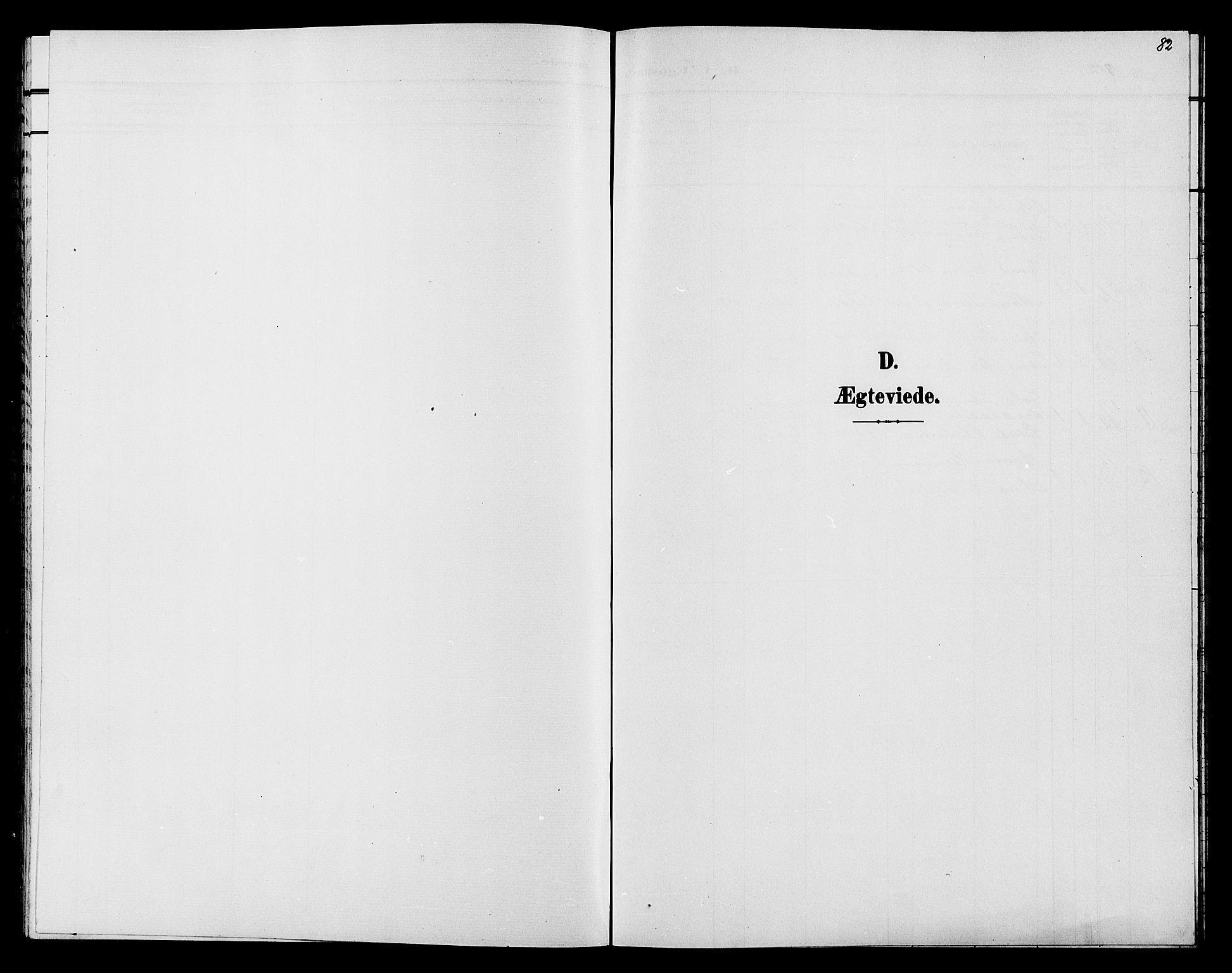 SAH, Søndre Land prestekontor, L/L0005: Klokkerbok nr. 5, 1902-1911, s. 82