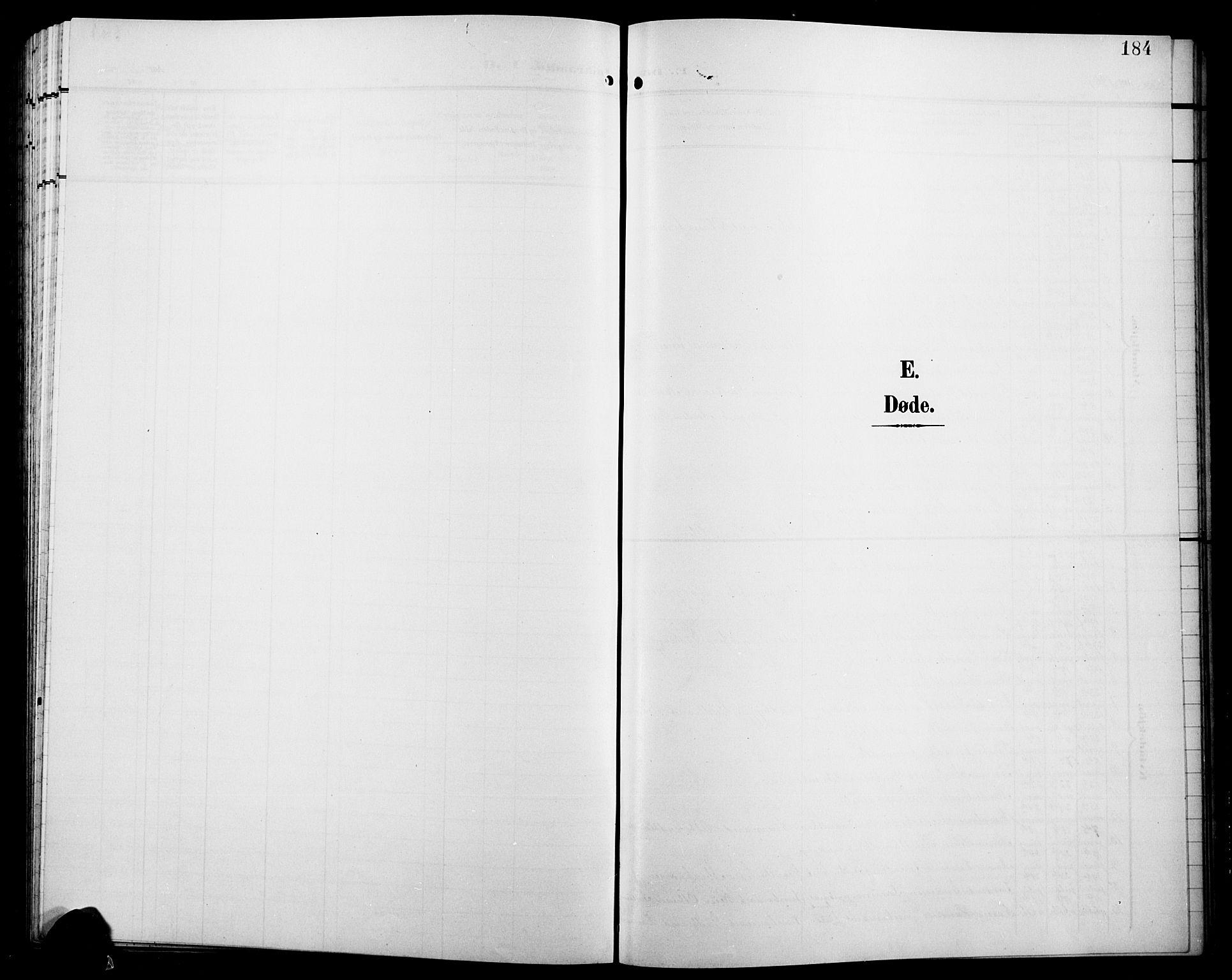 SAH, Jevnaker prestekontor, Klokkerbok nr. 4, 1907-1918, s. 184
