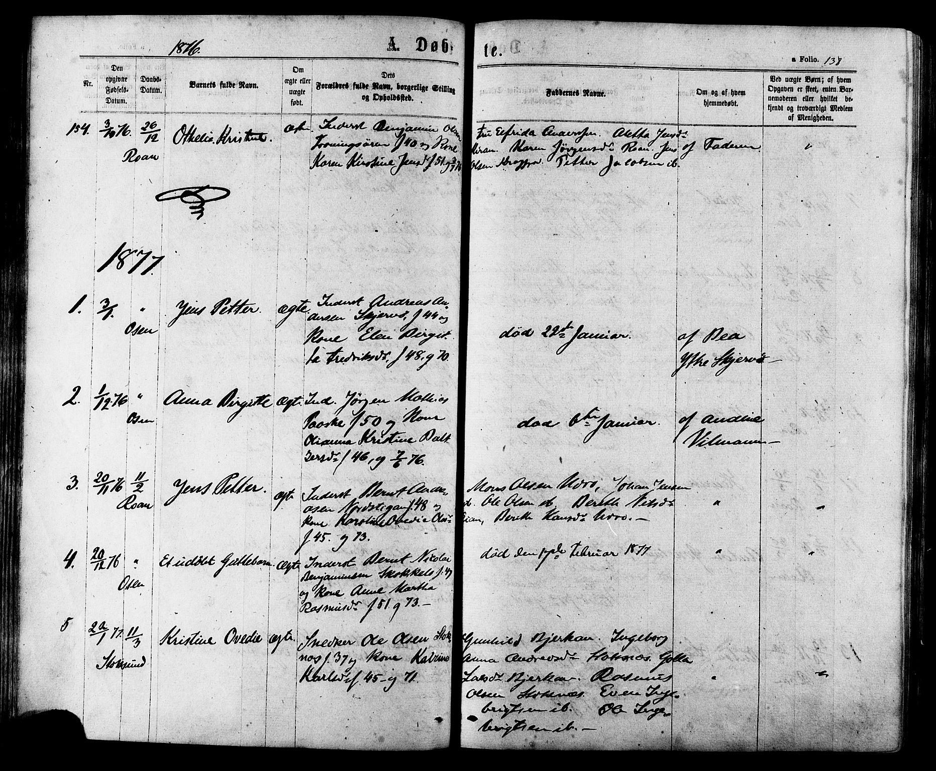 SAT, Ministerialprotokoller, klokkerbøker og fødselsregistre - Sør-Trøndelag, 657/L0706: Ministerialbok nr. 657A07, 1867-1878, s. 138