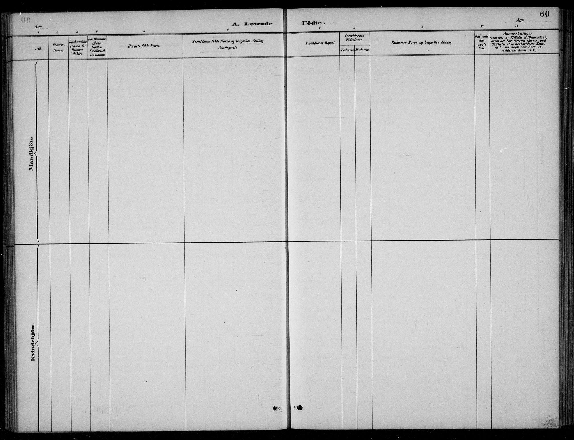 SAK, Bjelland sokneprestkontor, F/Fb/Fbc/L0003: Klokkerbok nr. B 3, 1887-1924, s. 60