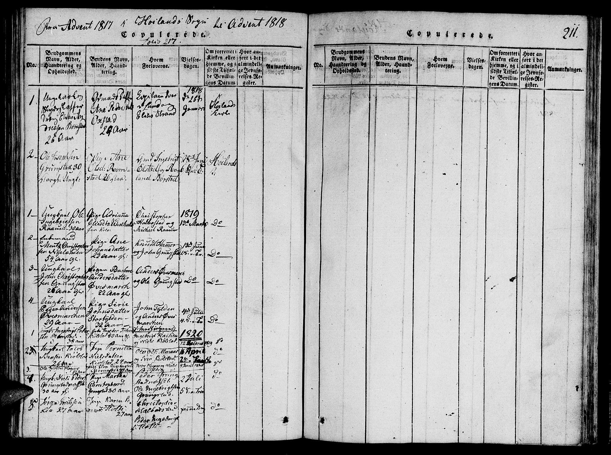 SAT, Ministerialprotokoller, klokkerbøker og fødselsregistre - Nord-Trøndelag, 764/L0546: Ministerialbok nr. 764A06 /3, 1817-1821, s. 211